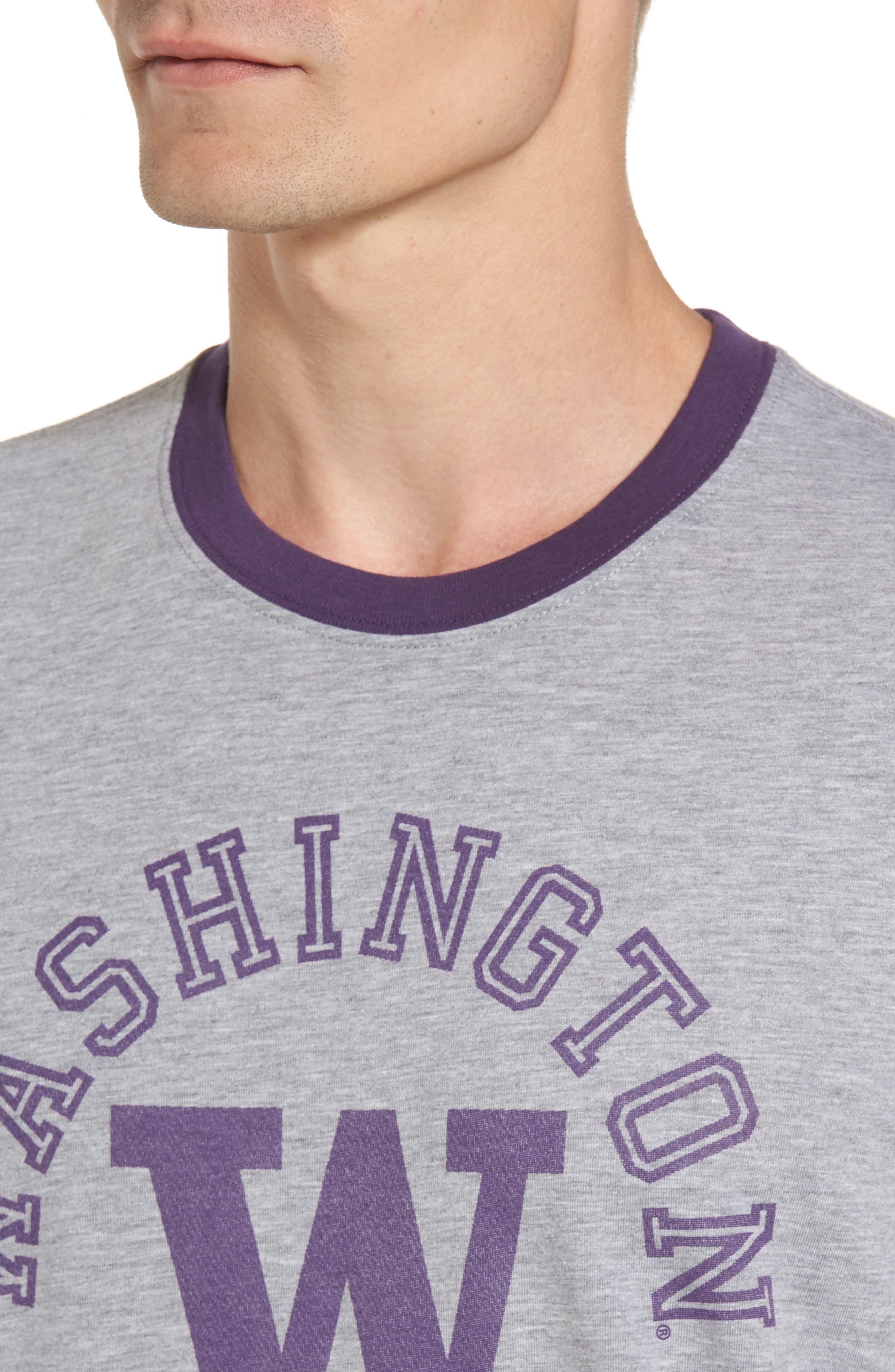 University of Washington Huskies Ringer T-Shirt,                             Alternate thumbnail 4, color,                             020