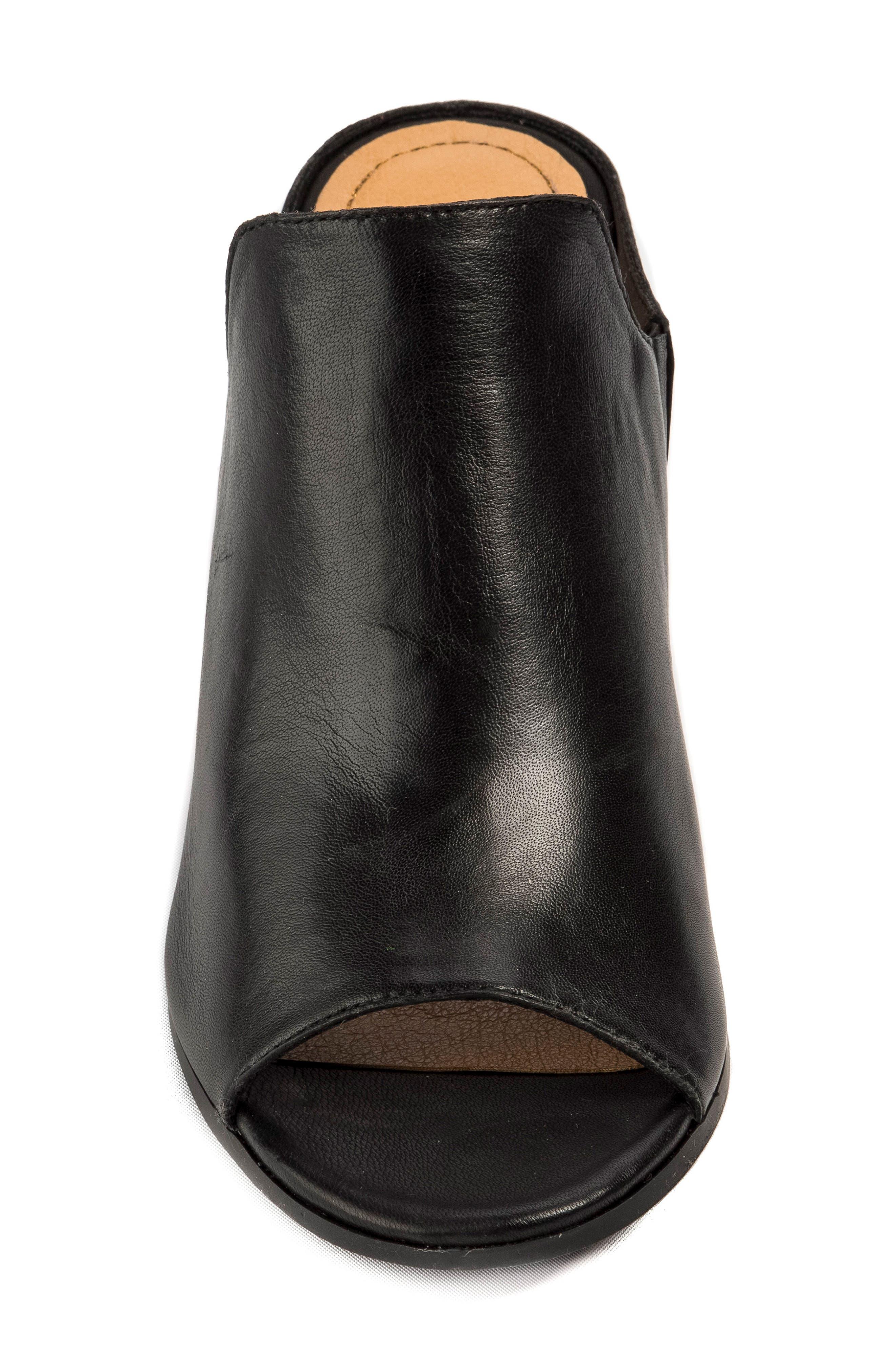 Hallie Loafer Sandal,                             Alternate thumbnail 4, color,                             001
