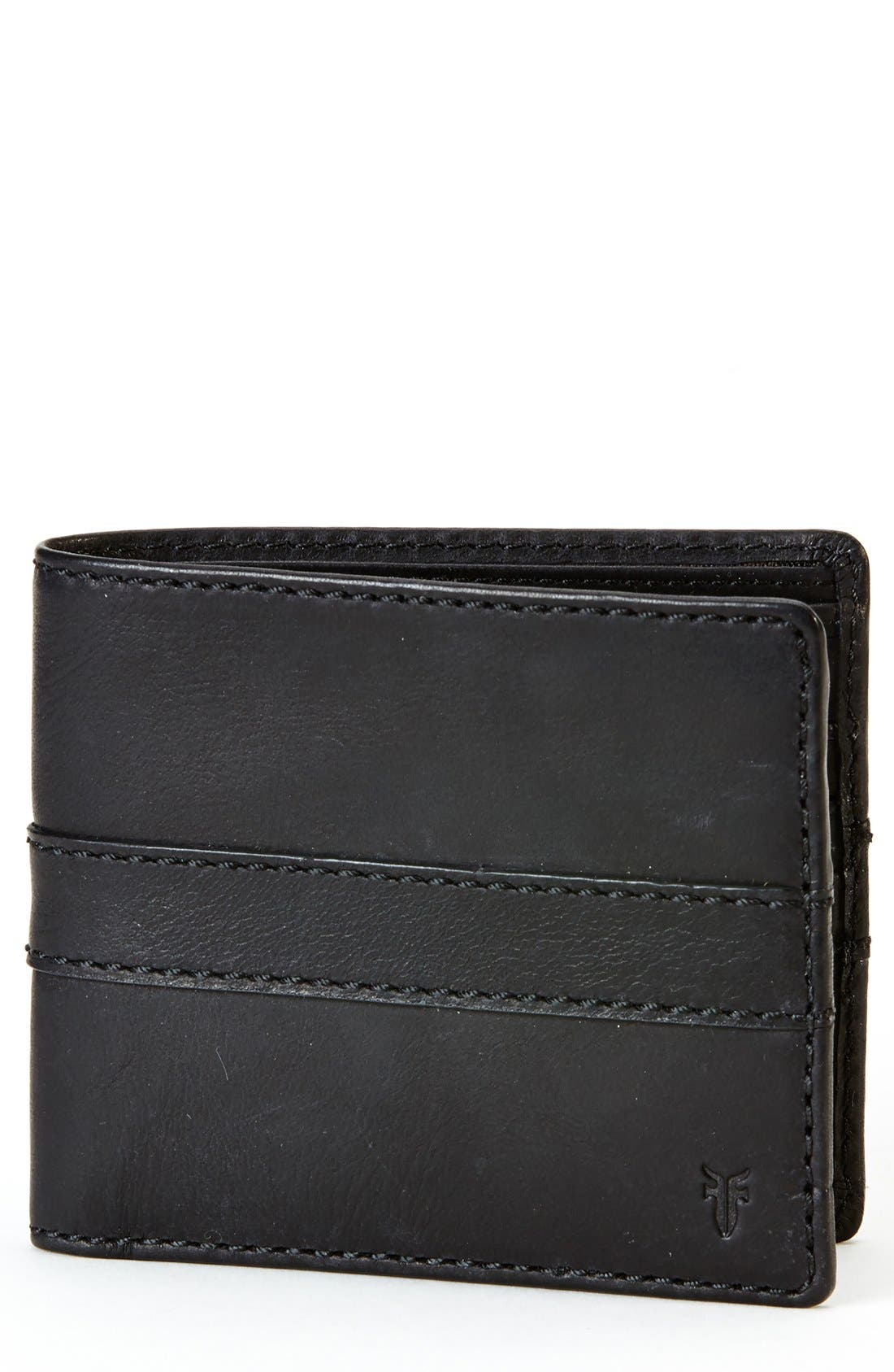 'Oliver' Leather Billfold Wallet,                             Main thumbnail 1, color,                             001