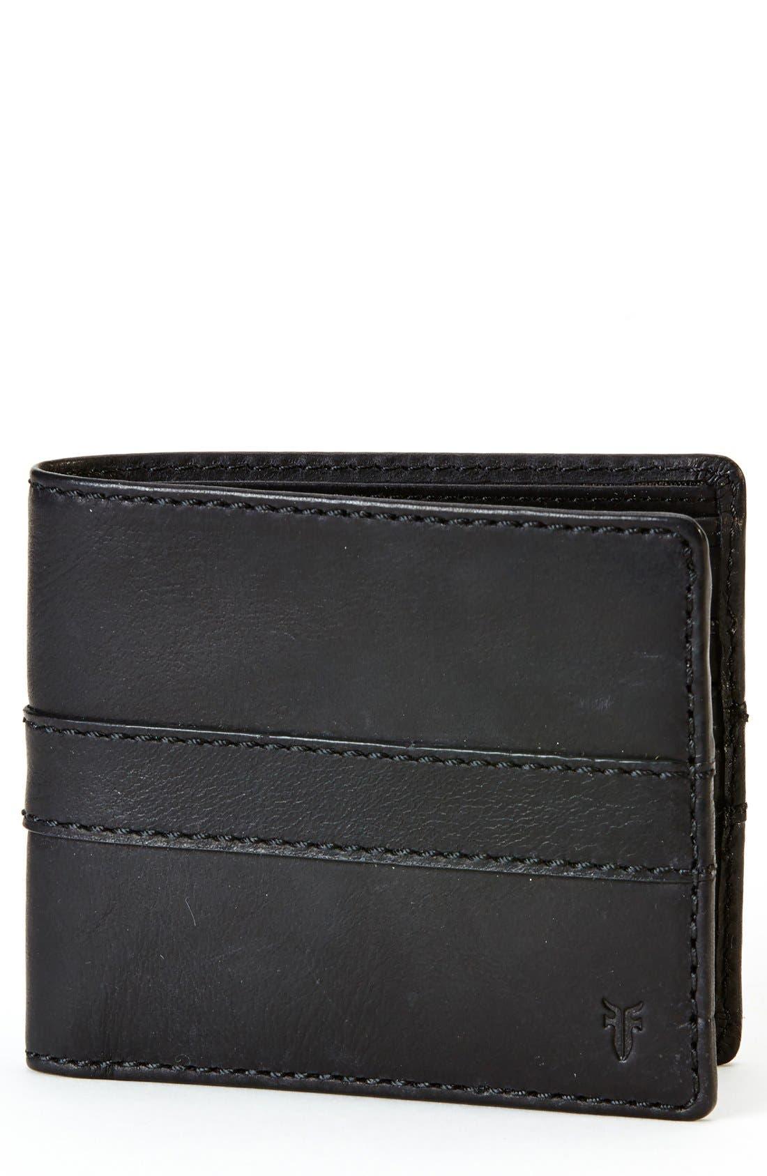 'Oliver' Leather Billfold Wallet,                         Main,                         color, 001