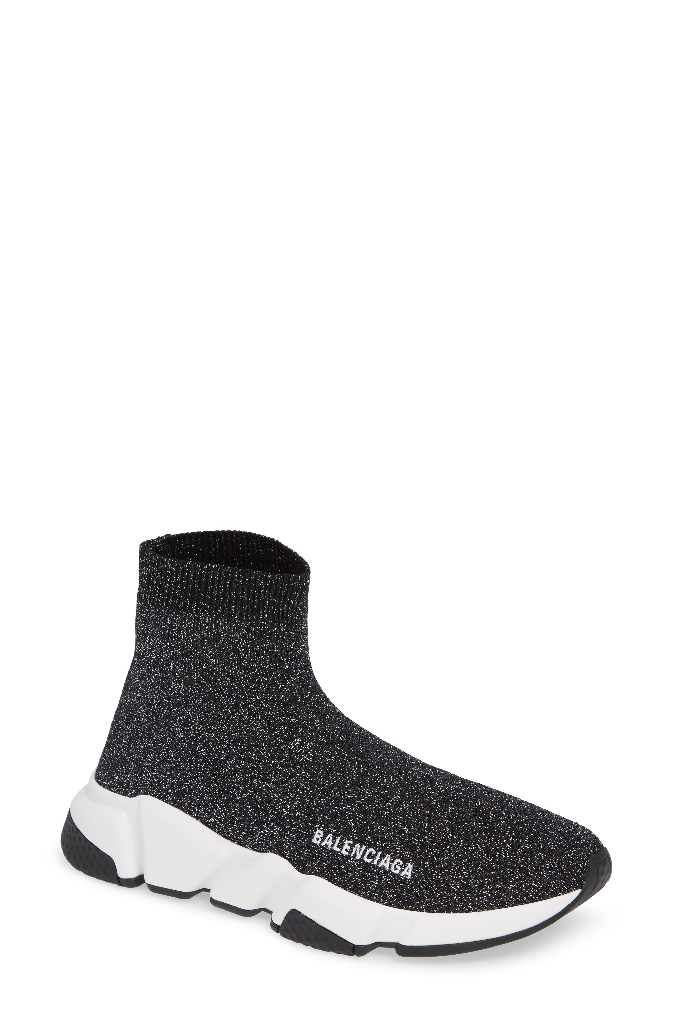 Speed Knit Sneaker,                         Main,                         color, BLACK PEPPER