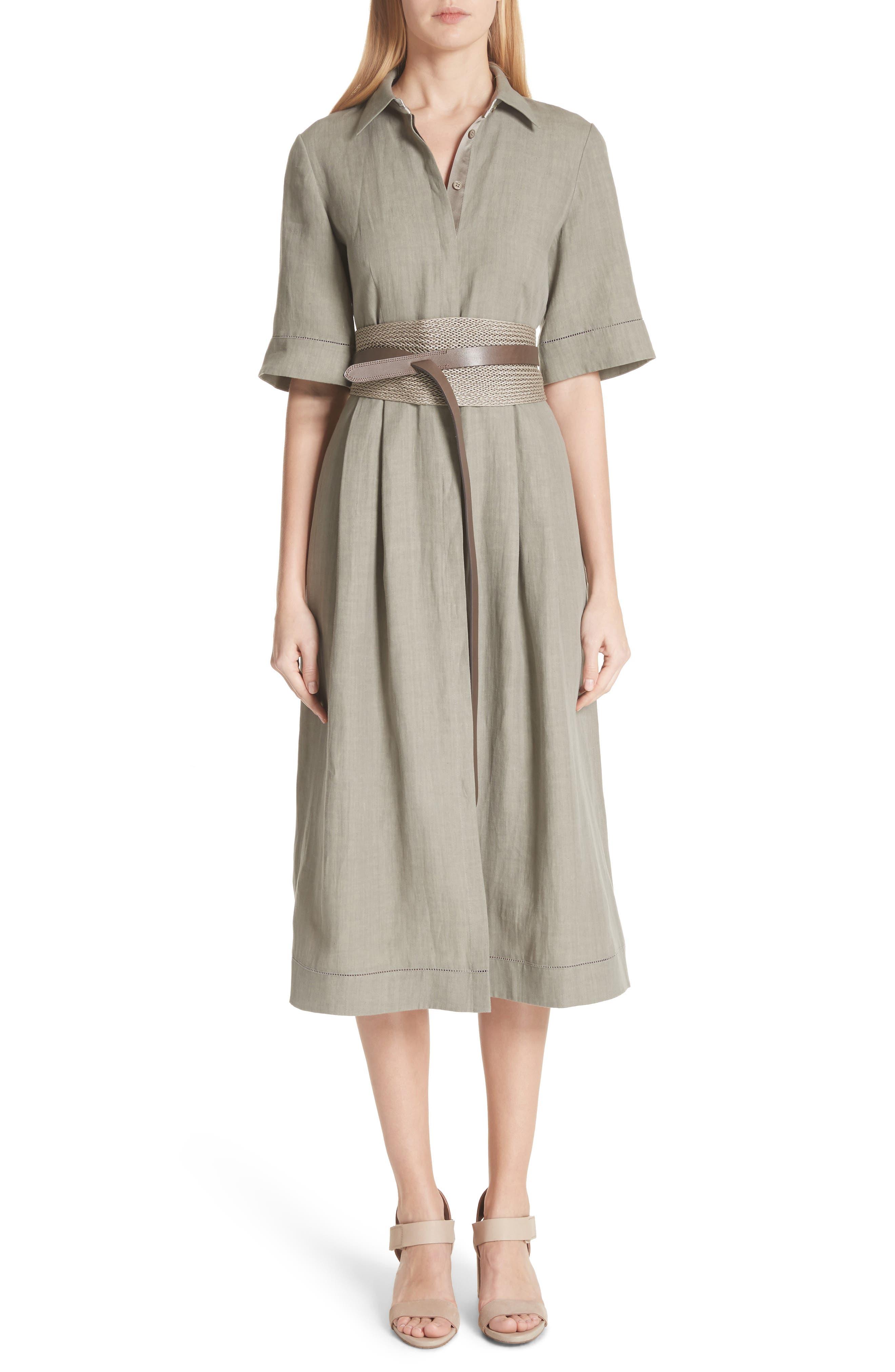 Eleni Linen Shirtdress,                             Alternate thumbnail 7, color,                             033