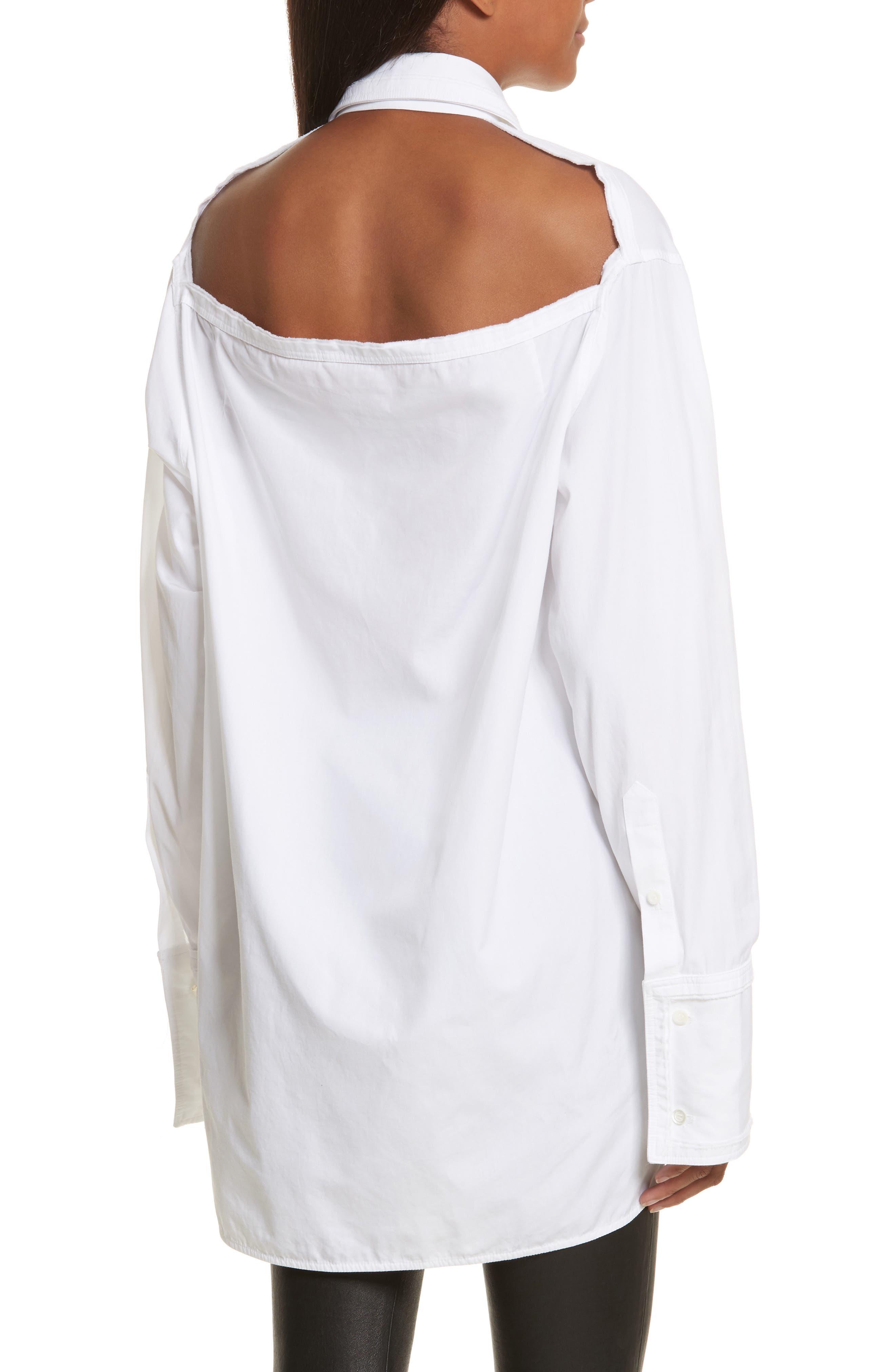 Cutout Cotton Poplin Shirt,                             Alternate thumbnail 2, color,                             139
