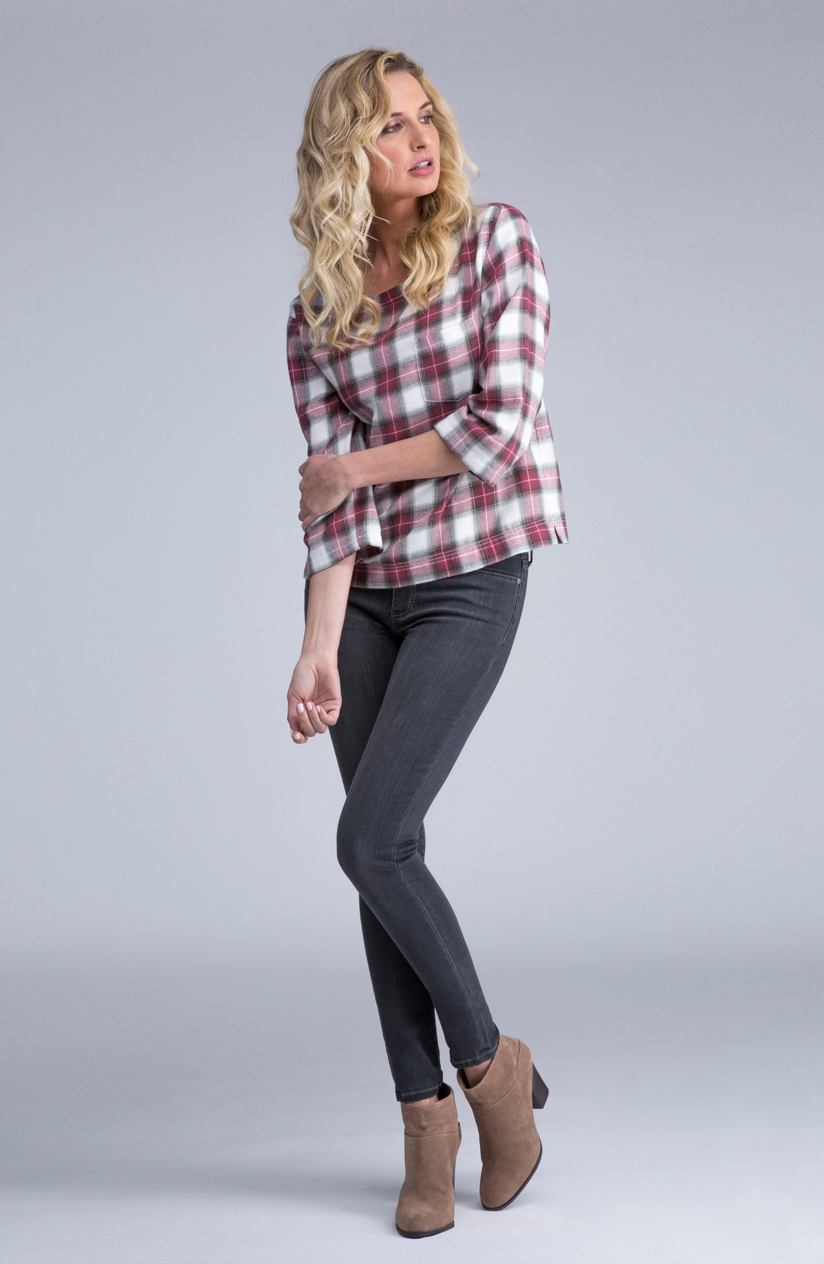Abby Stretch Skinny Jeans,                             Alternate thumbnail 4, color,                             024