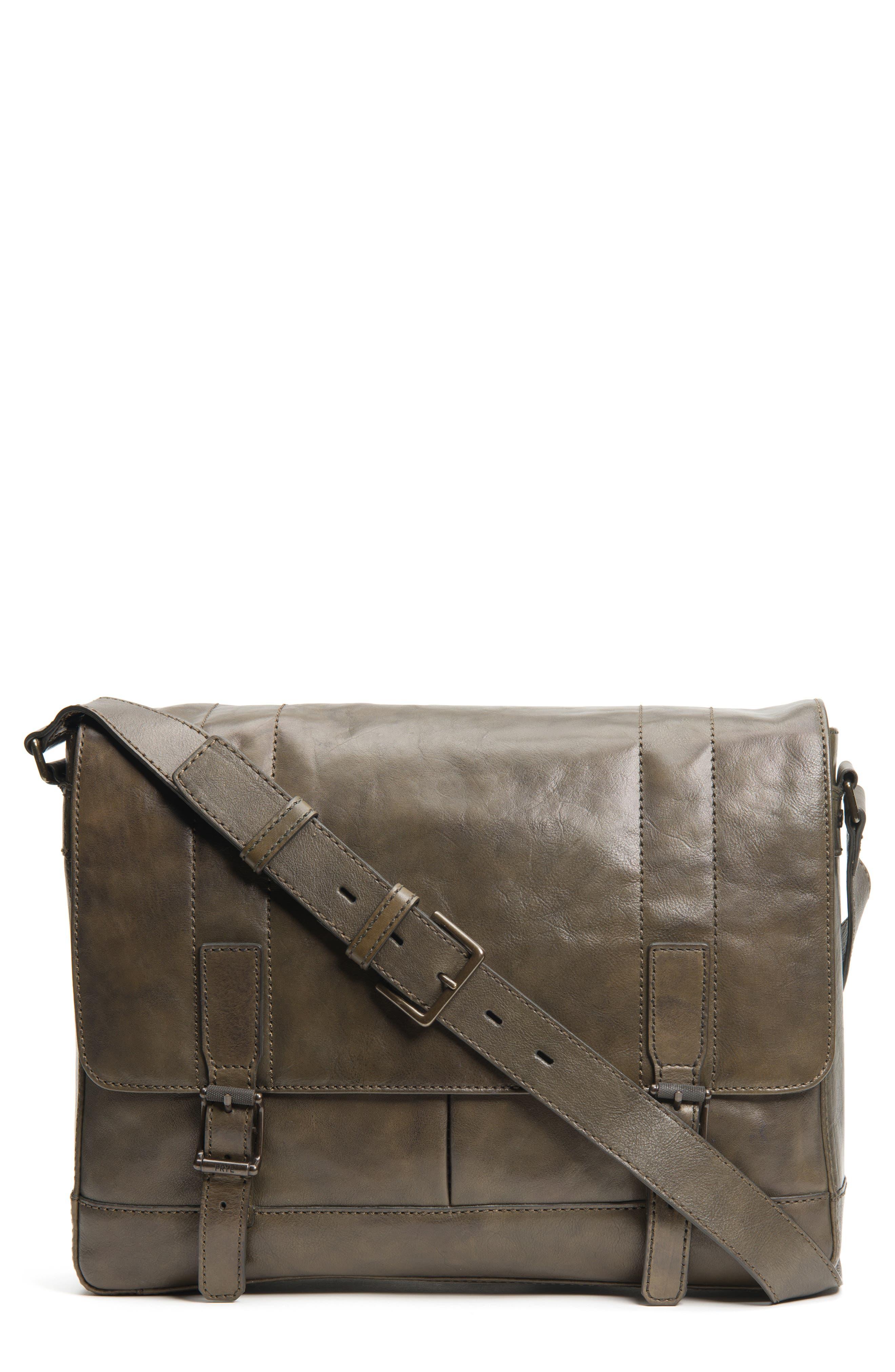 'Oliver' Leather Messenger Bag,                             Main thumbnail 1, color,                             311
