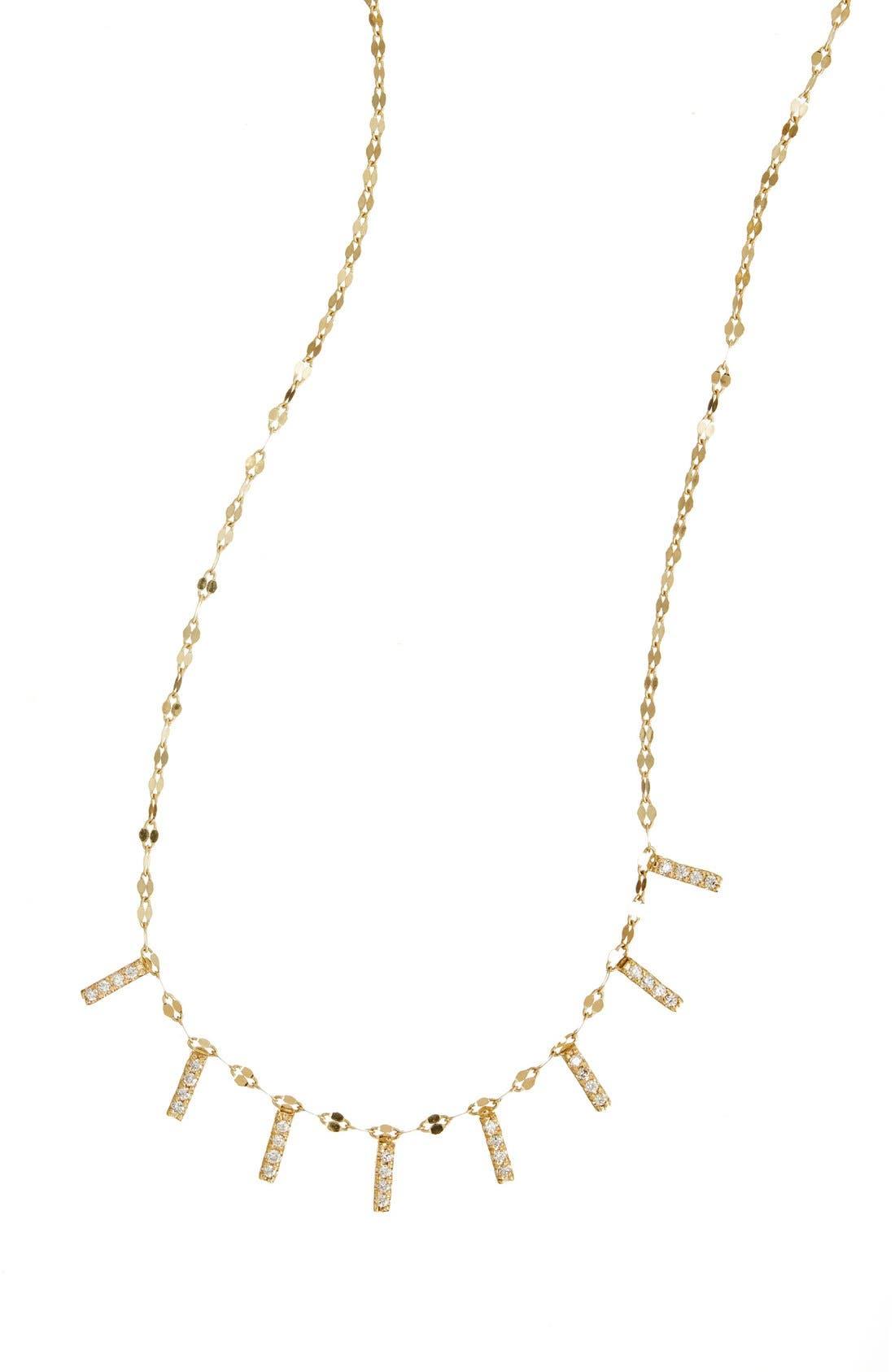 'Flawless' Mini Bar Collar Necklace,                             Main thumbnail 1, color,                             YELLOW GOLD