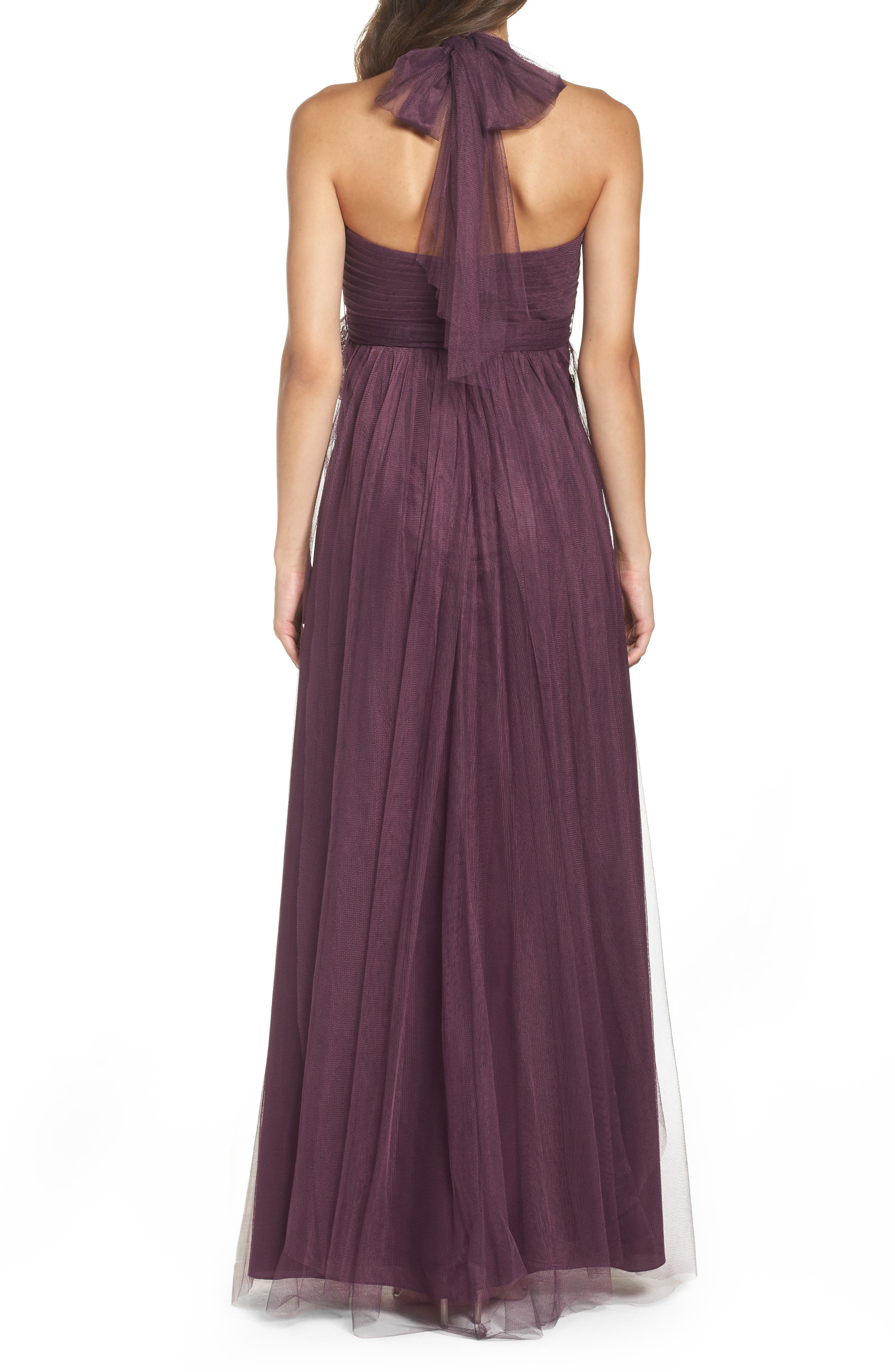 Annabelle Convertible Tulle Column Dress,                             Alternate thumbnail 68, color,
