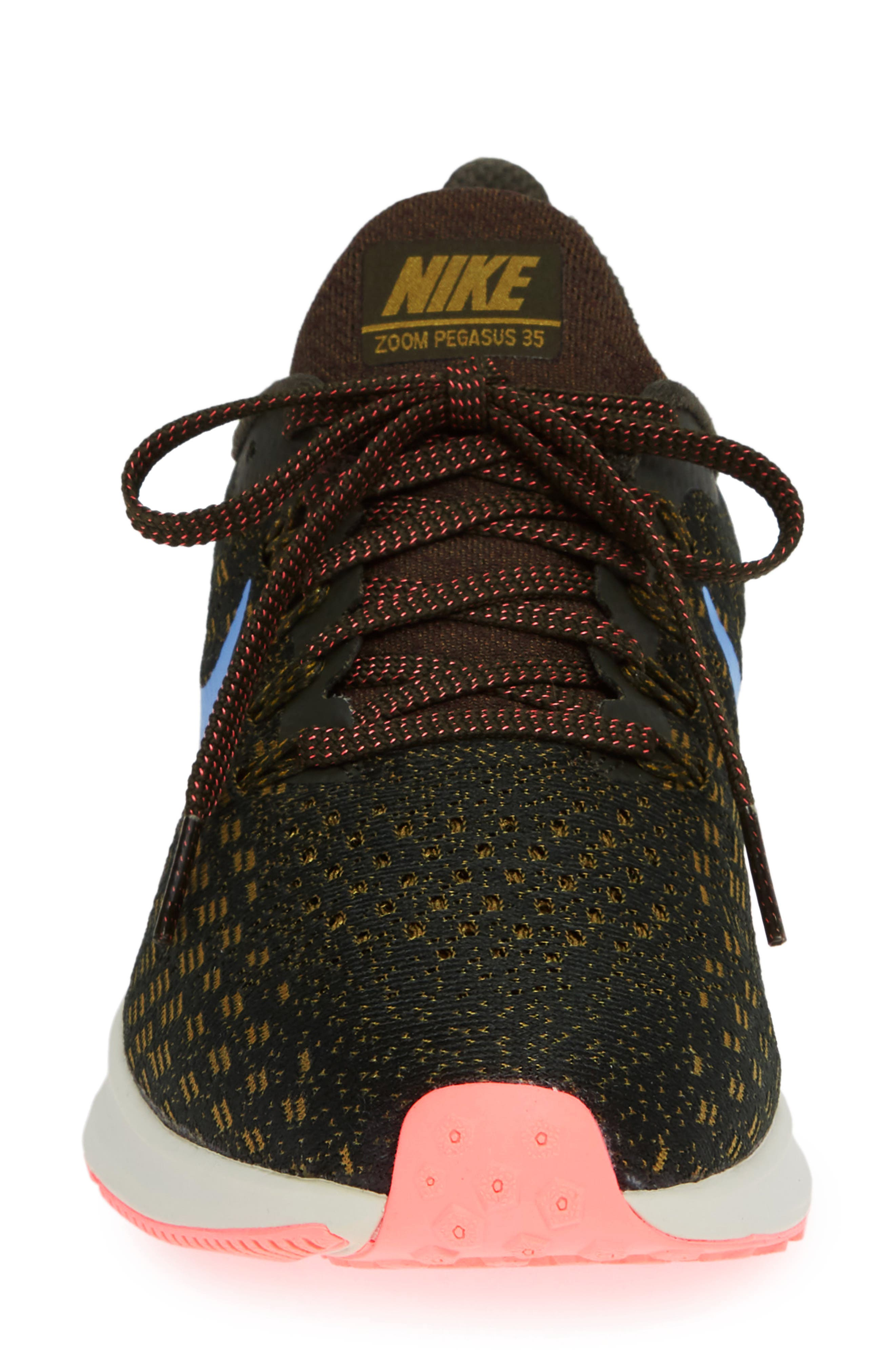 Air Zoom Pegasus 35 Running Shoe,                             Alternate thumbnail 4, color,                             SEQUOIA/ ROYAL PULSE-OLIVE