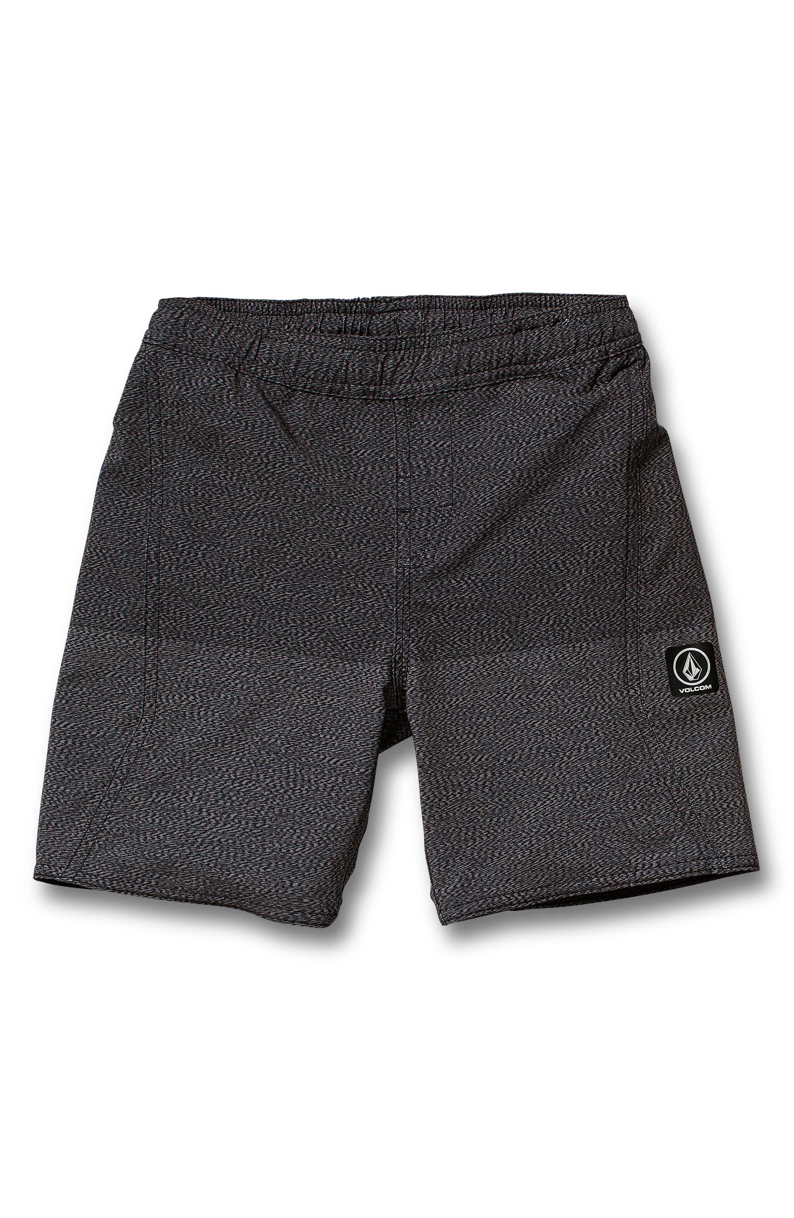 Lido Volley Swim Shorts,                         Main,                         color, BLACK