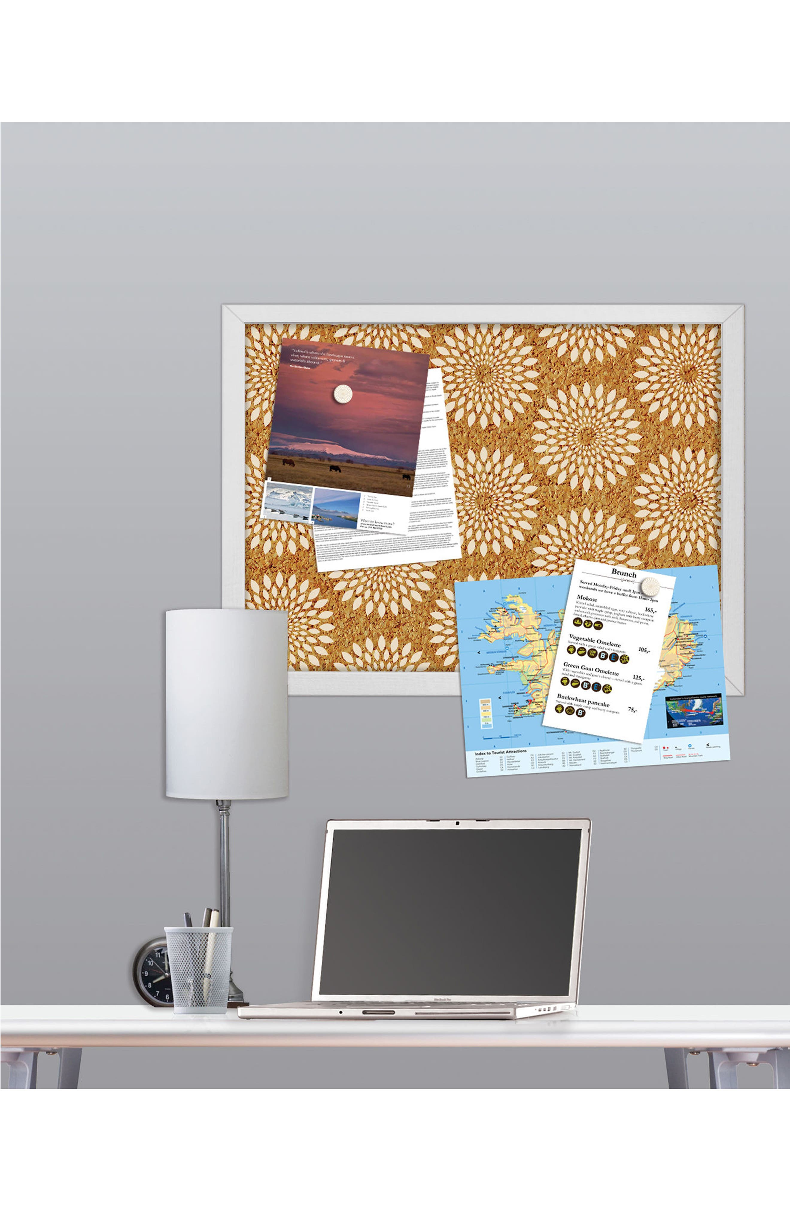 WALLPOPS,                             Catalina Print Cork Board,                             Alternate thumbnail 2, color,                             200