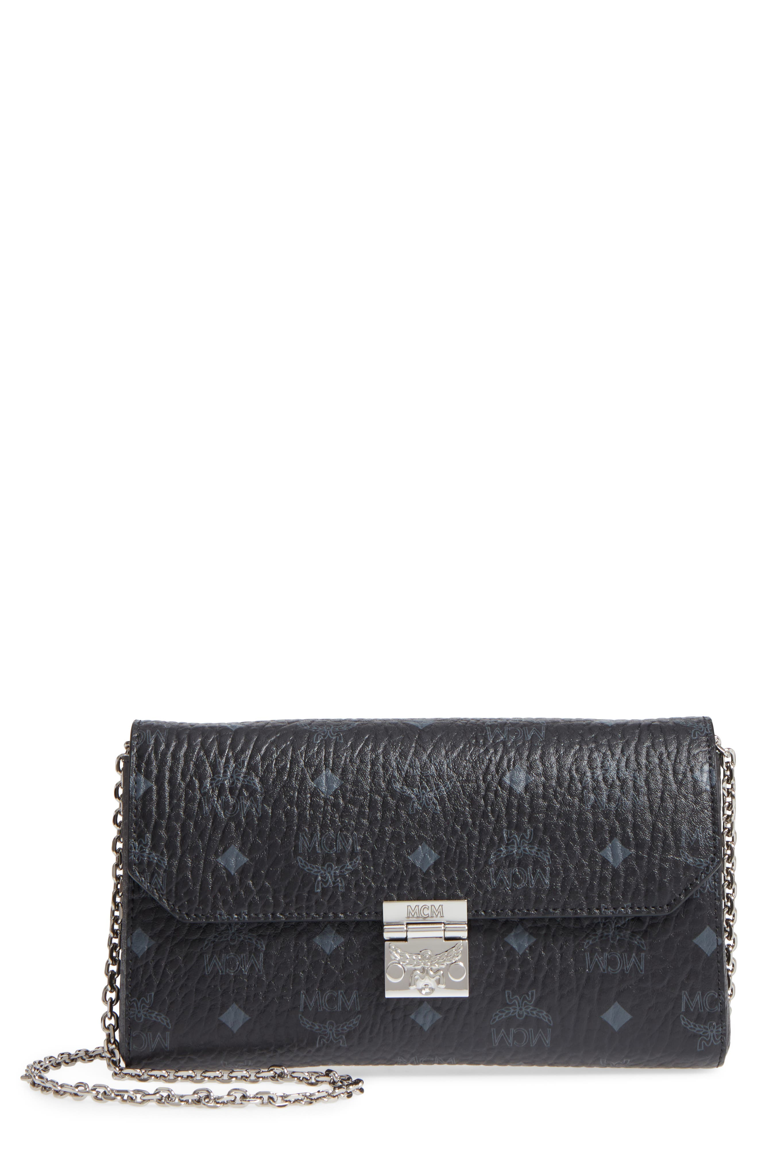 Millie Monogrammed Leather Crossbody Bag,                             Main thumbnail 1, color,                             001