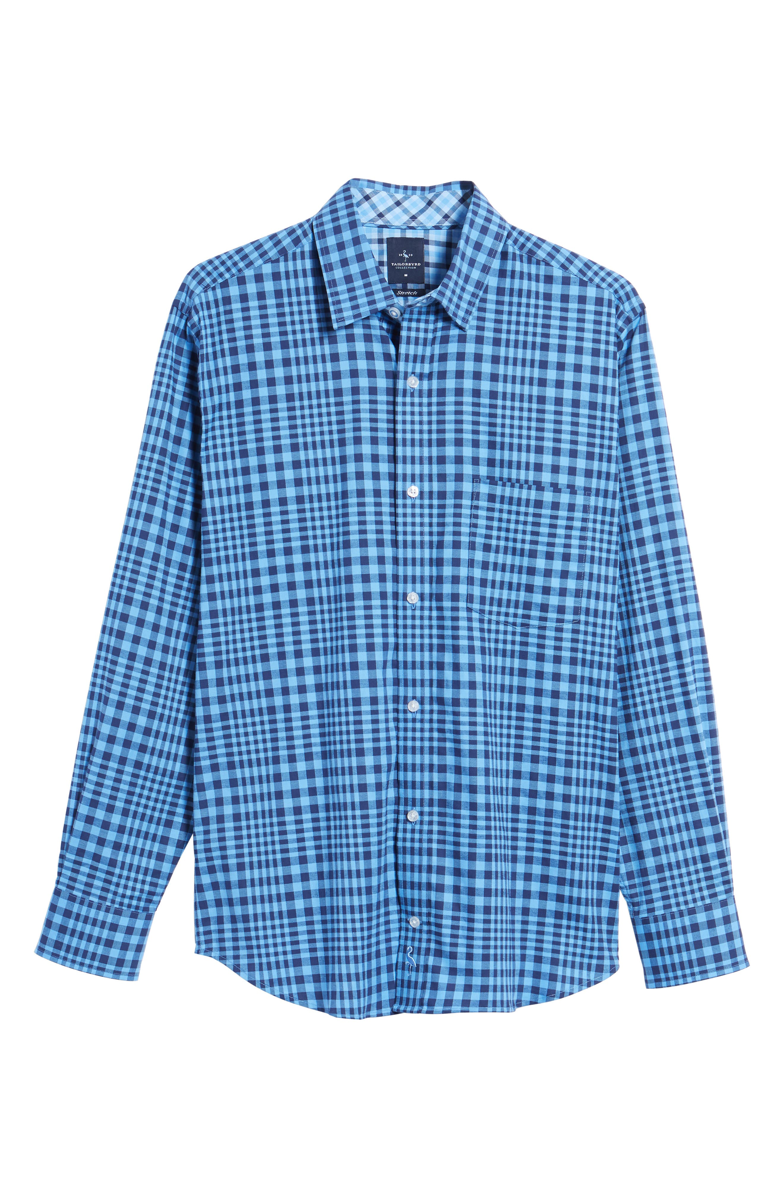 Bayou Cone Check Sport Shirt,                             Alternate thumbnail 6, color,                             410