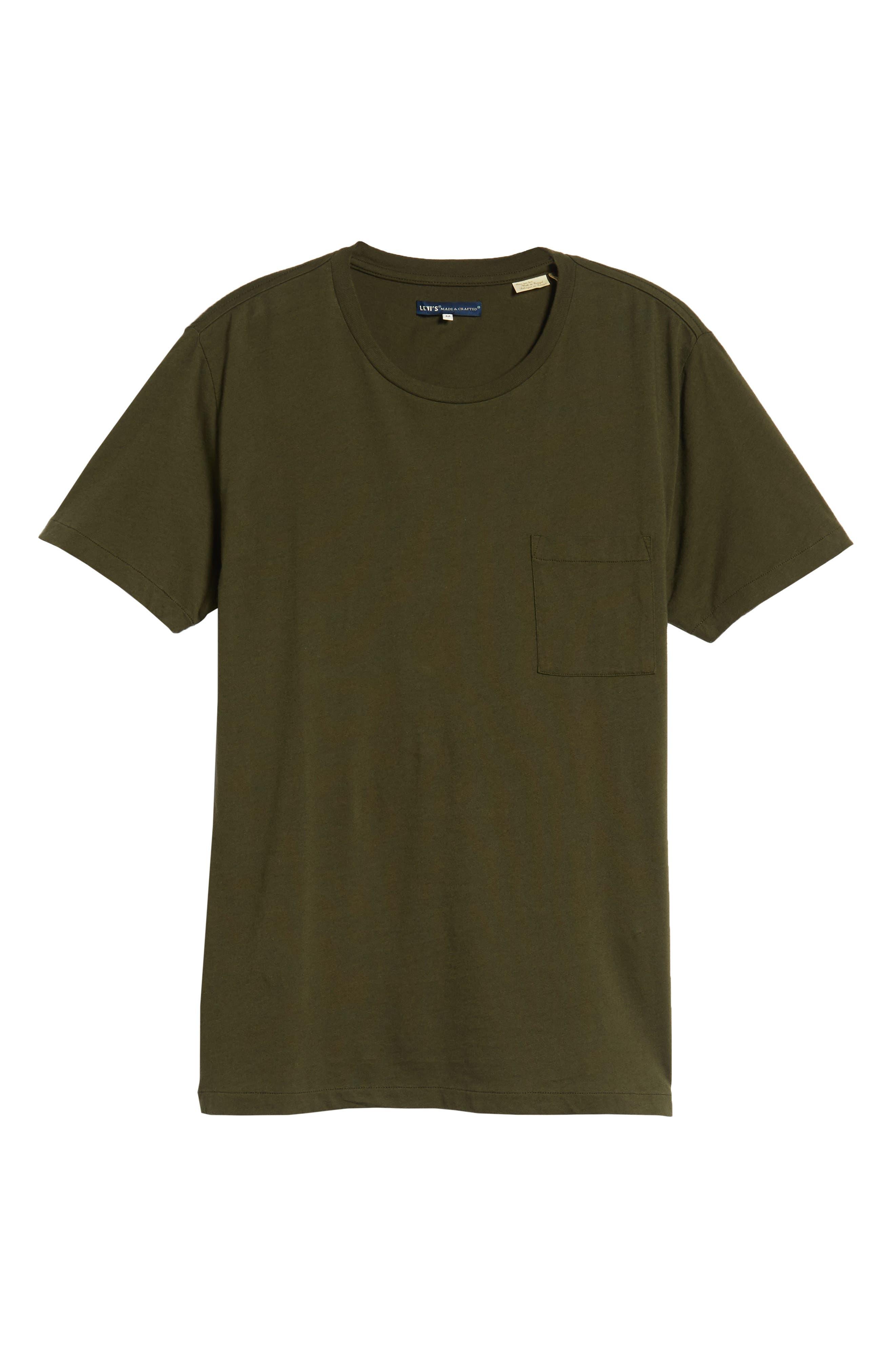 Slim Fit Pocket T-Shirt,                             Alternate thumbnail 6, color,                             300