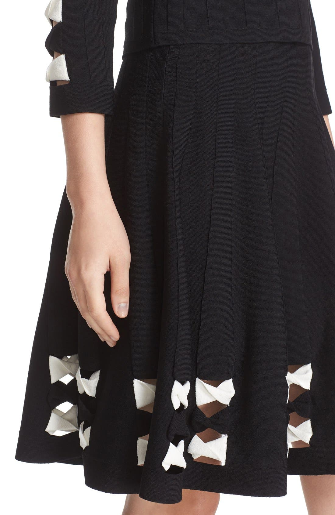 Twisted Cutout Skirt,                             Alternate thumbnail 7, color,                             001