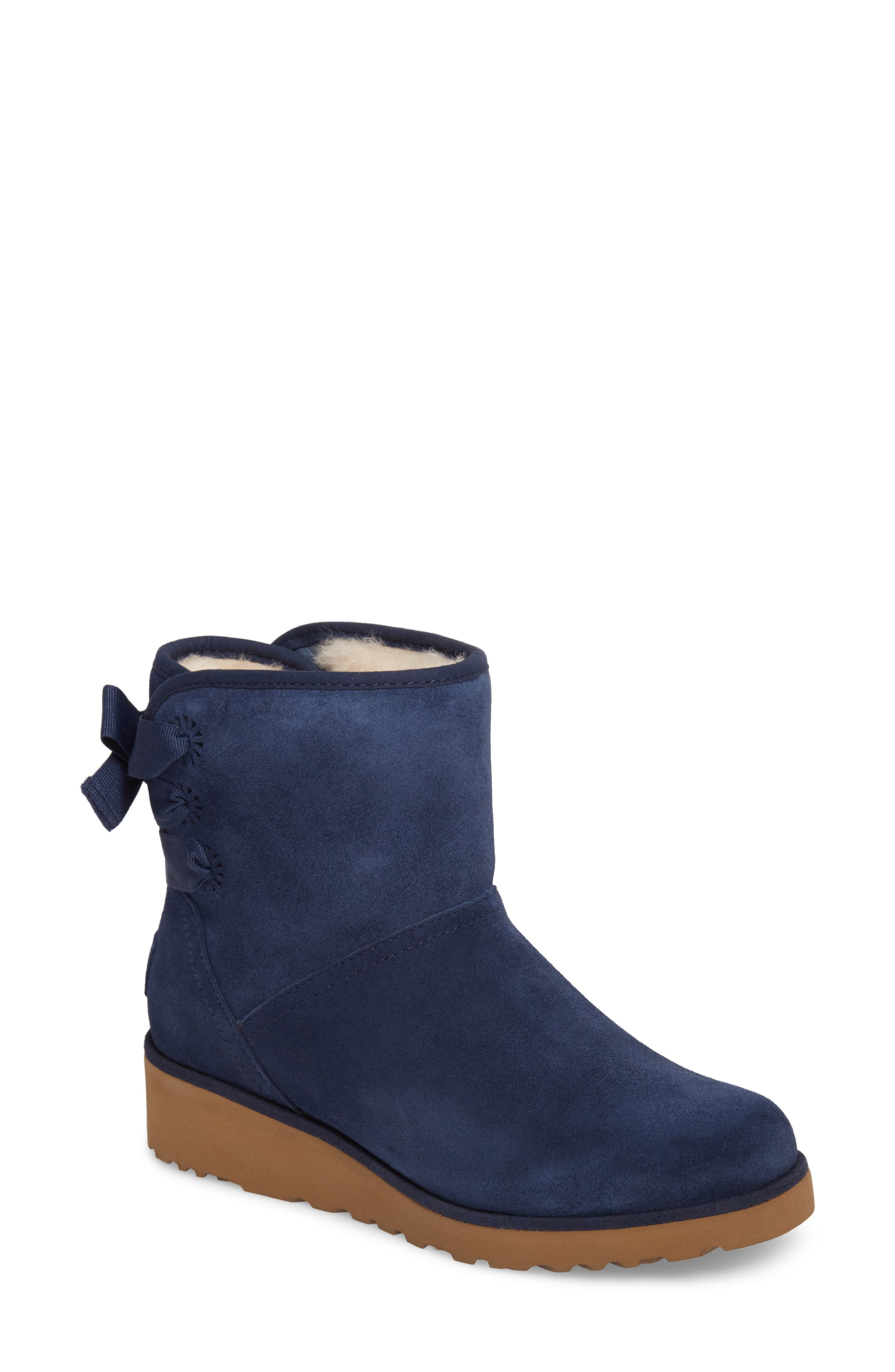 Drew Sunshine Perforated Tie Back Boot,                             Main thumbnail 3, color,