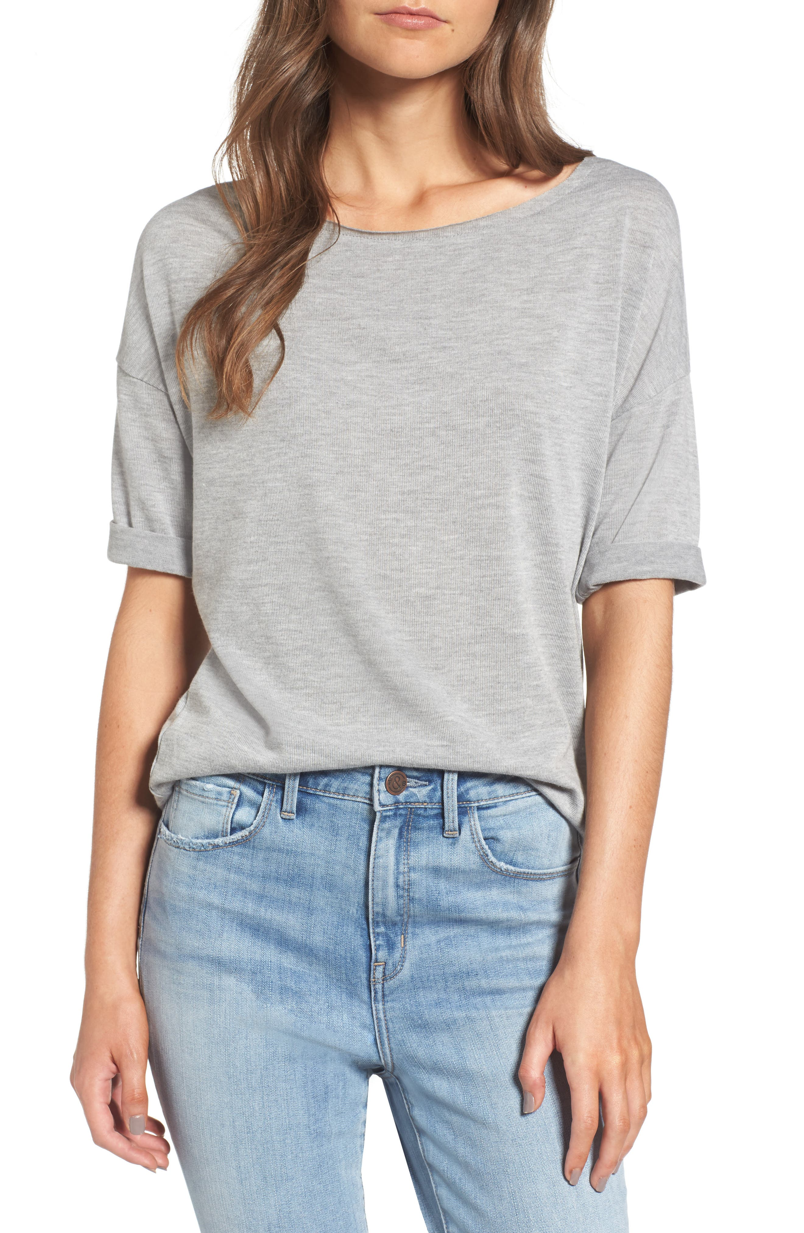 x Something Navy Easy Tee,                         Main,                         color,
