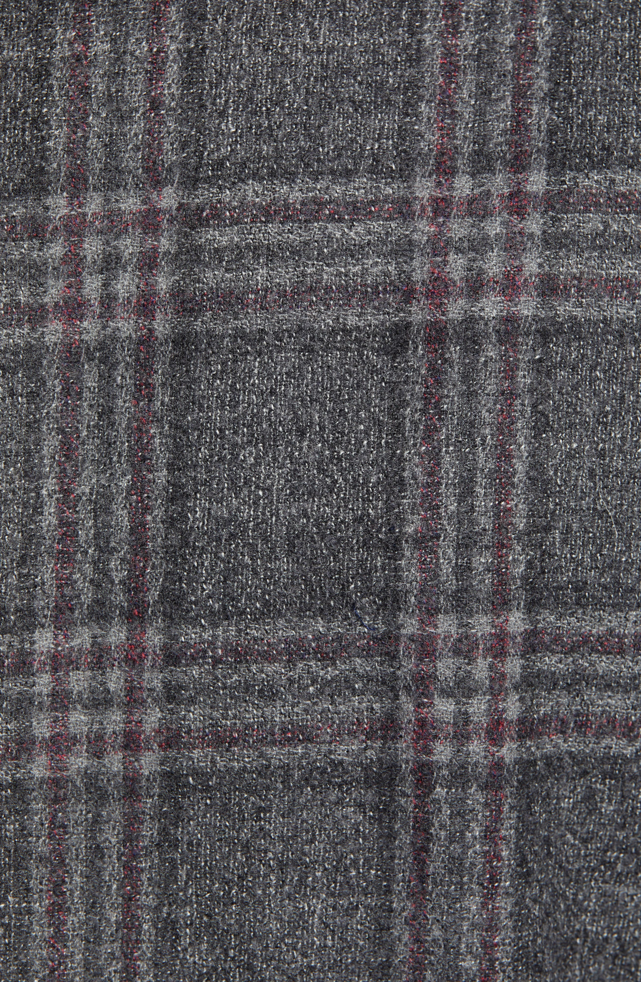 Extra Trim Fit Wool Blend Soft Coat,                             Alternate thumbnail 6, color,                             CHARCOAL