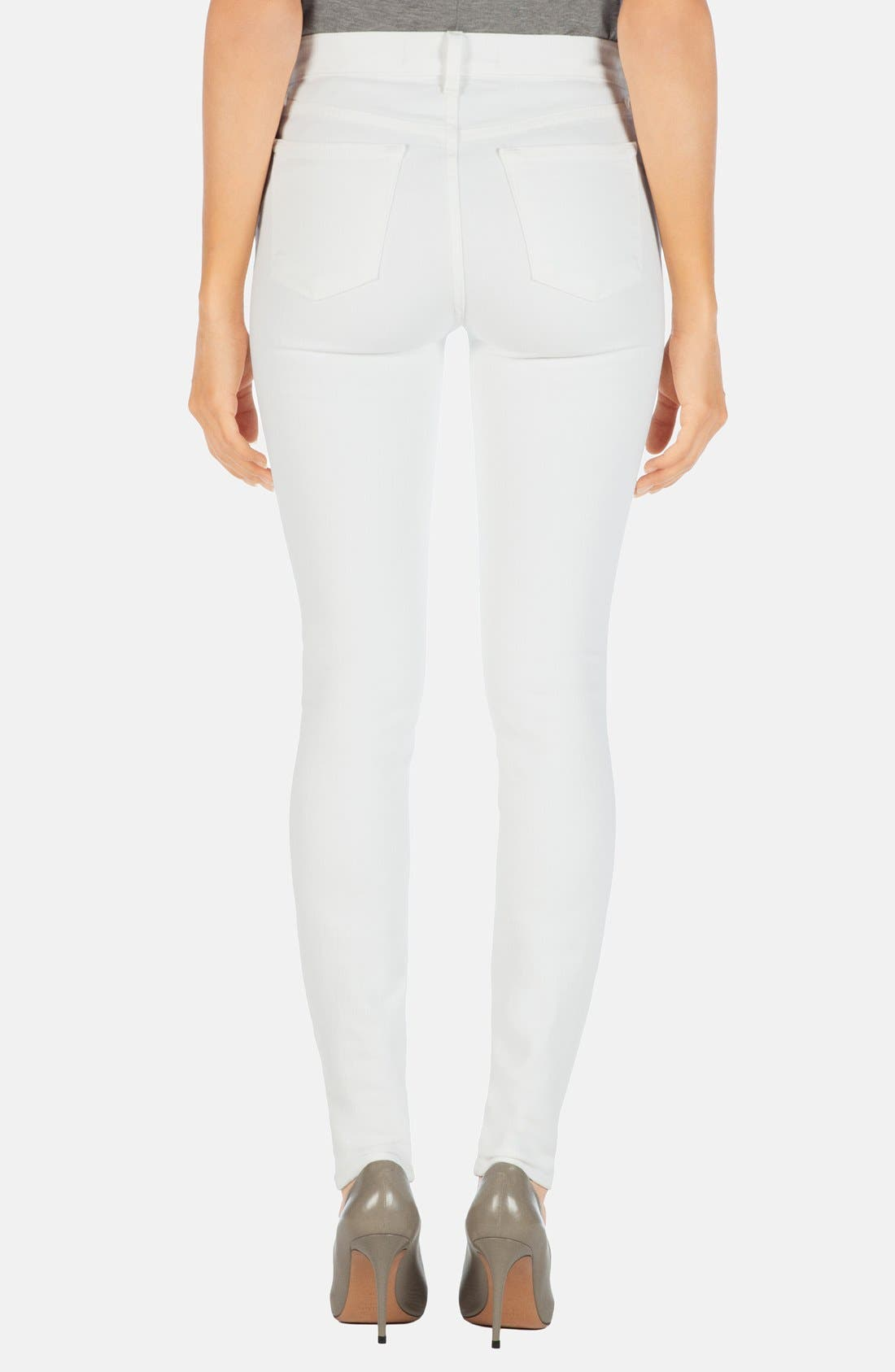 2311 Maria High Waist Super Skinny Jeans,                             Alternate thumbnail 9, color,                             BLANC