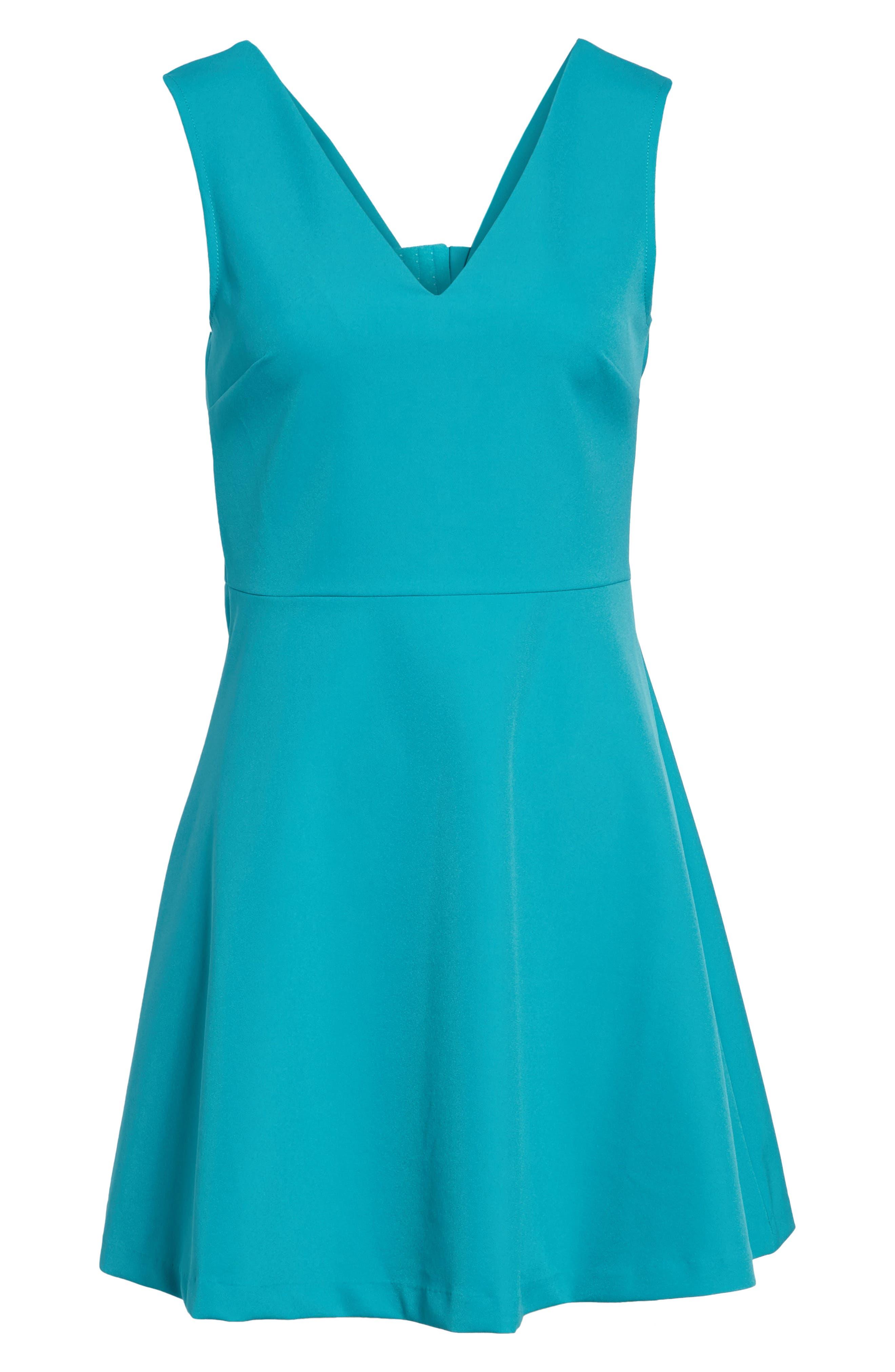 Bianca Back Cutout Fit & Flare Dress,                             Alternate thumbnail 82, color,