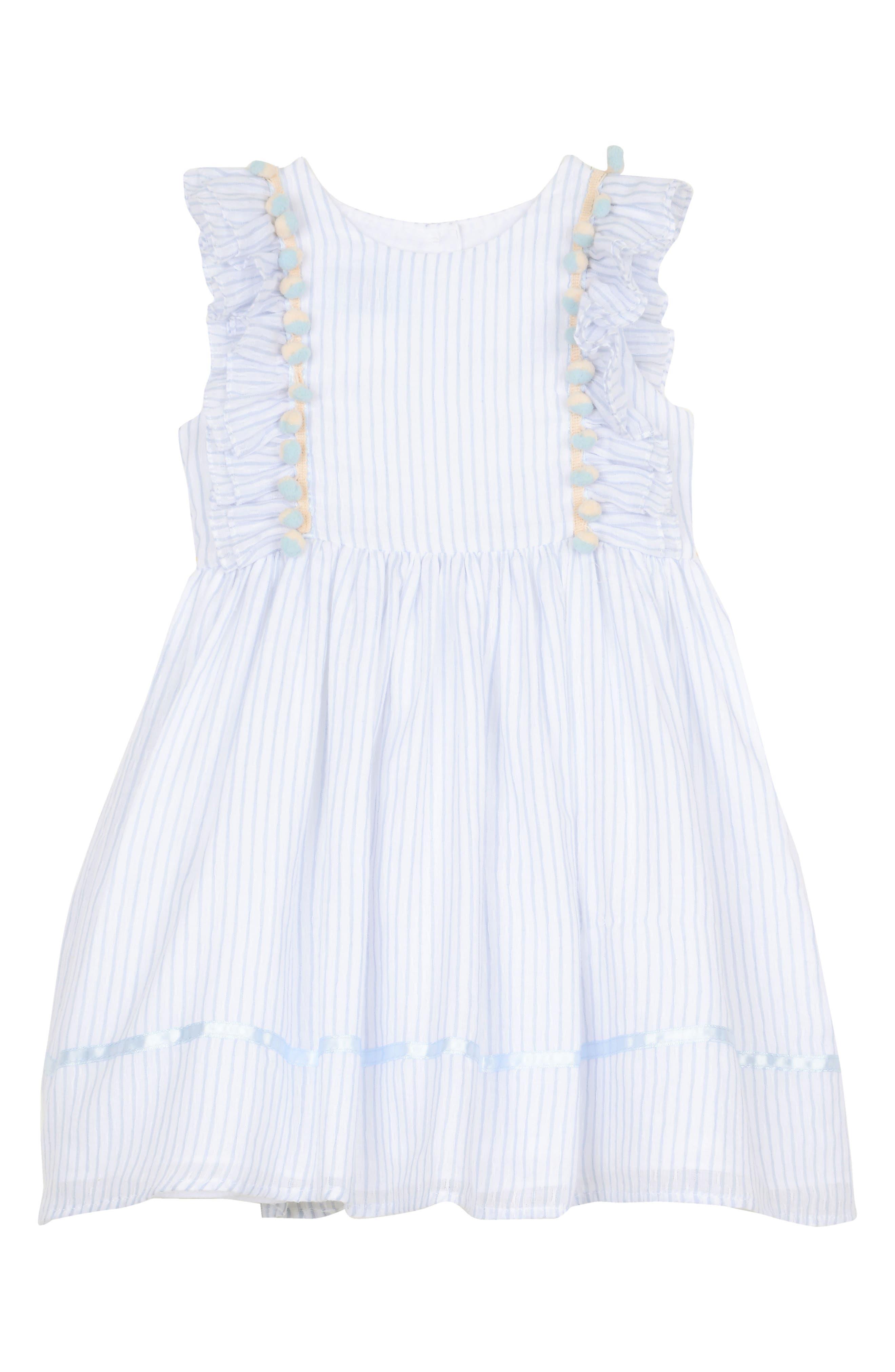 Ruffle Stripe Dress,                             Main thumbnail 1, color,                             402