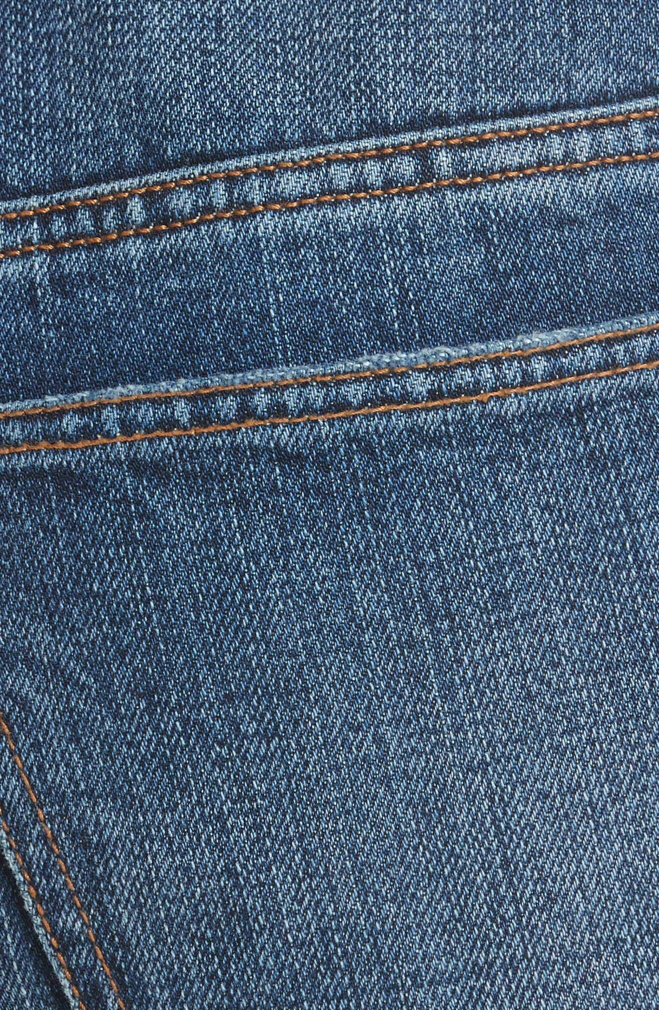 Ankle Flare High Waist Jeans,                             Alternate thumbnail 5, color,