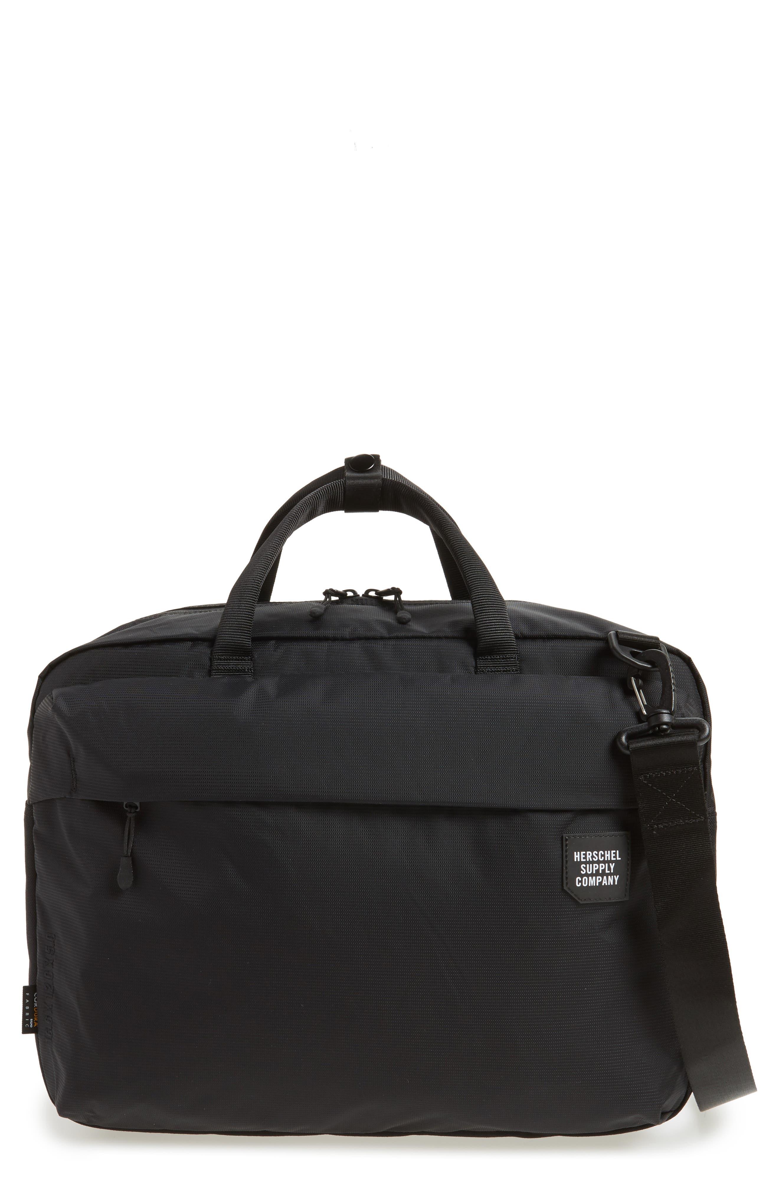 Britannia Convertible Messenger Bag,                         Main,                         color, BLACK
