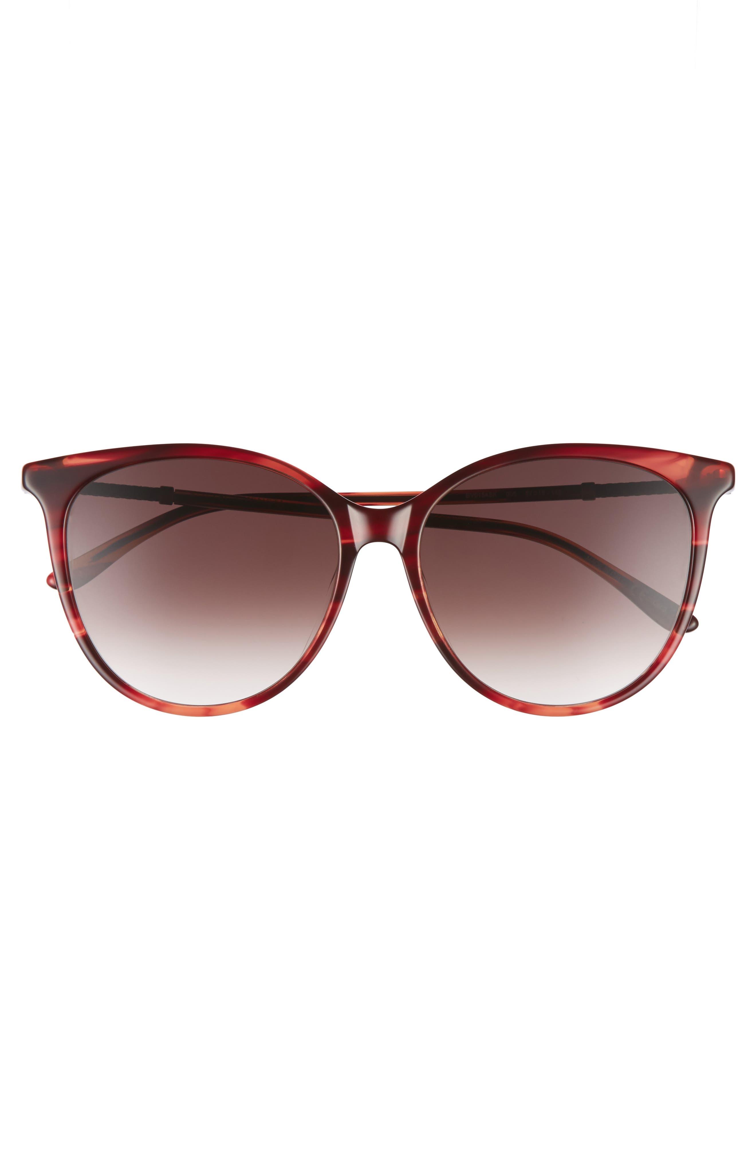 57mm Cat Eye Sunglasses,                             Alternate thumbnail 12, color,