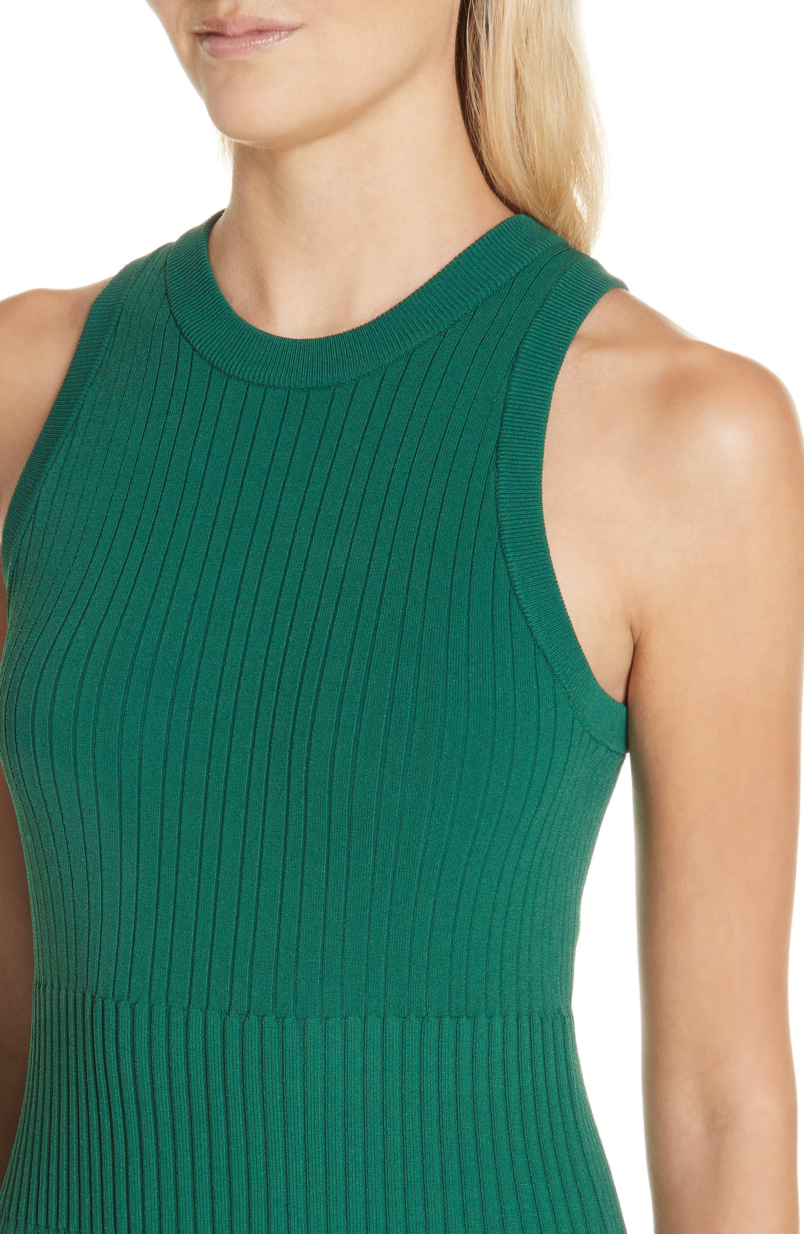 Rib Knit Midi Dress,                             Alternate thumbnail 7, color,