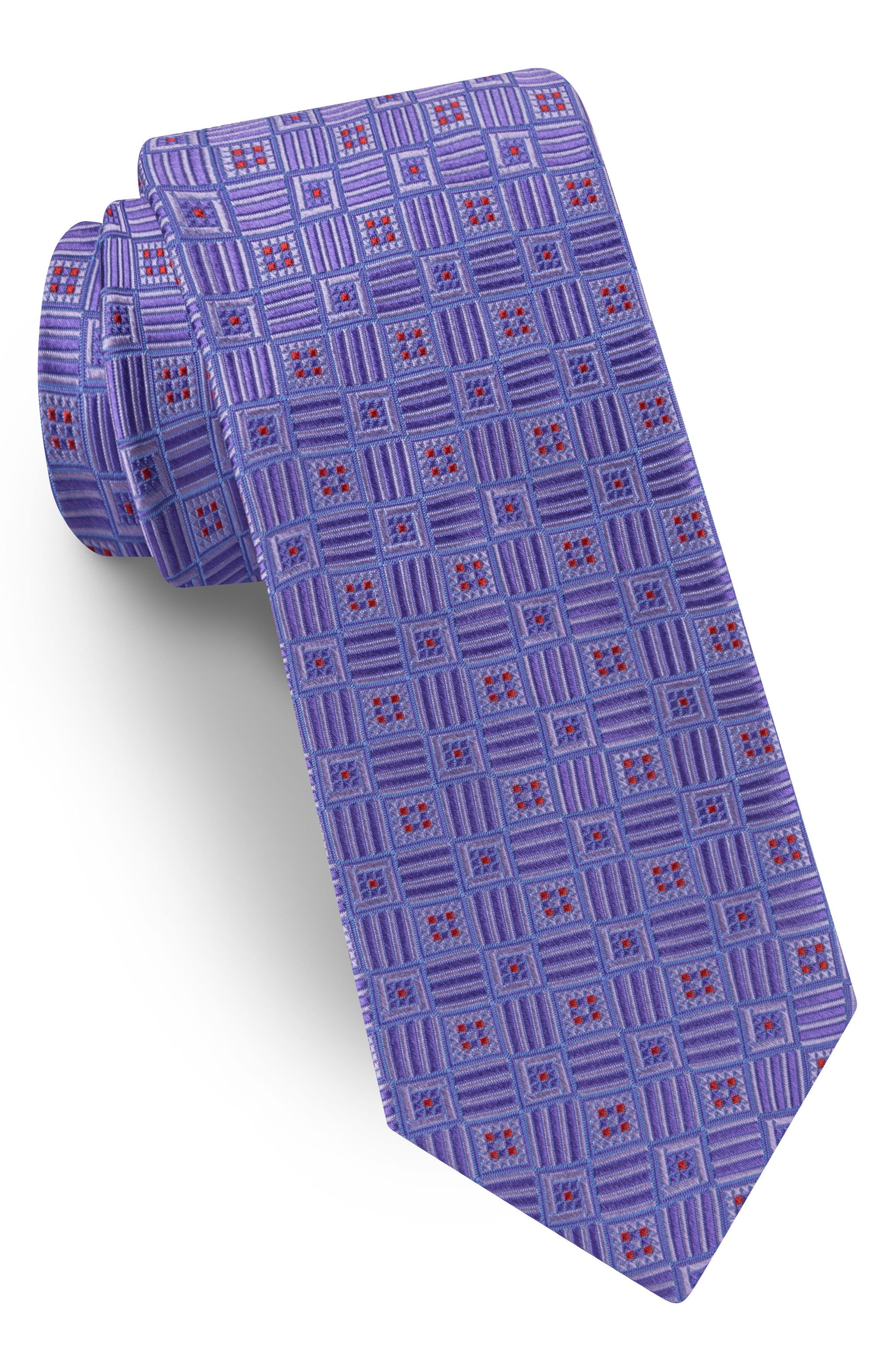Geometric Silk Tie,                         Main,                         color, 500