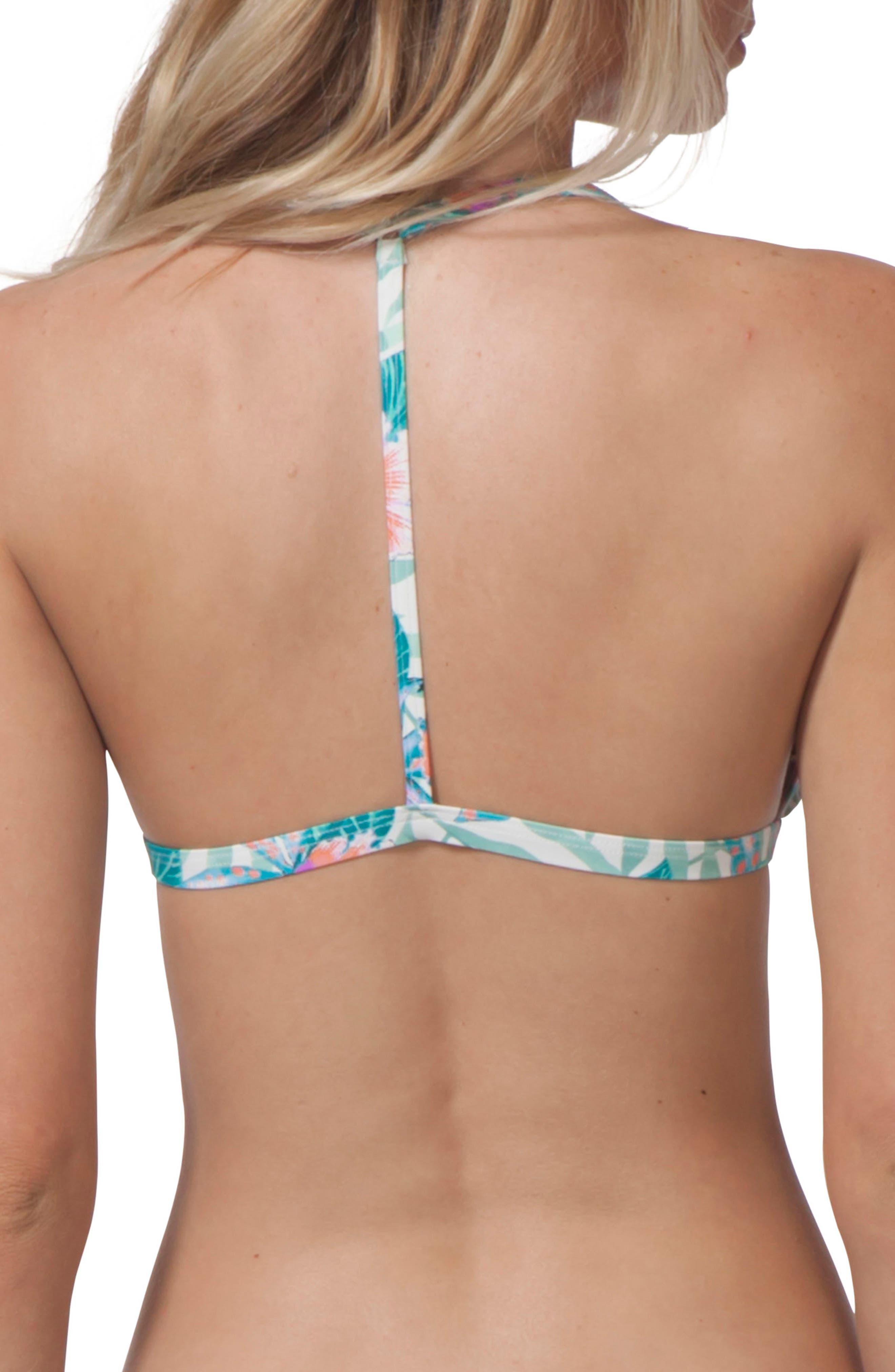Tropic Tribe Triangle Bikini Top,                             Alternate thumbnail 2, color,                             100