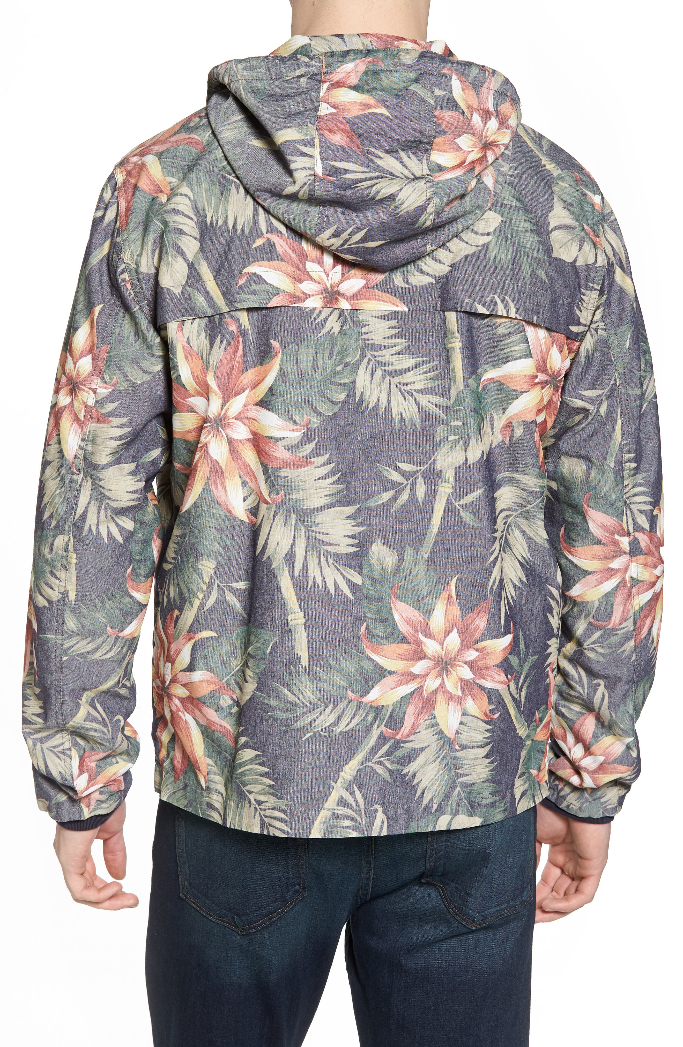 Print Hooded Beach Jacket,                             Alternate thumbnail 2, color,                             401