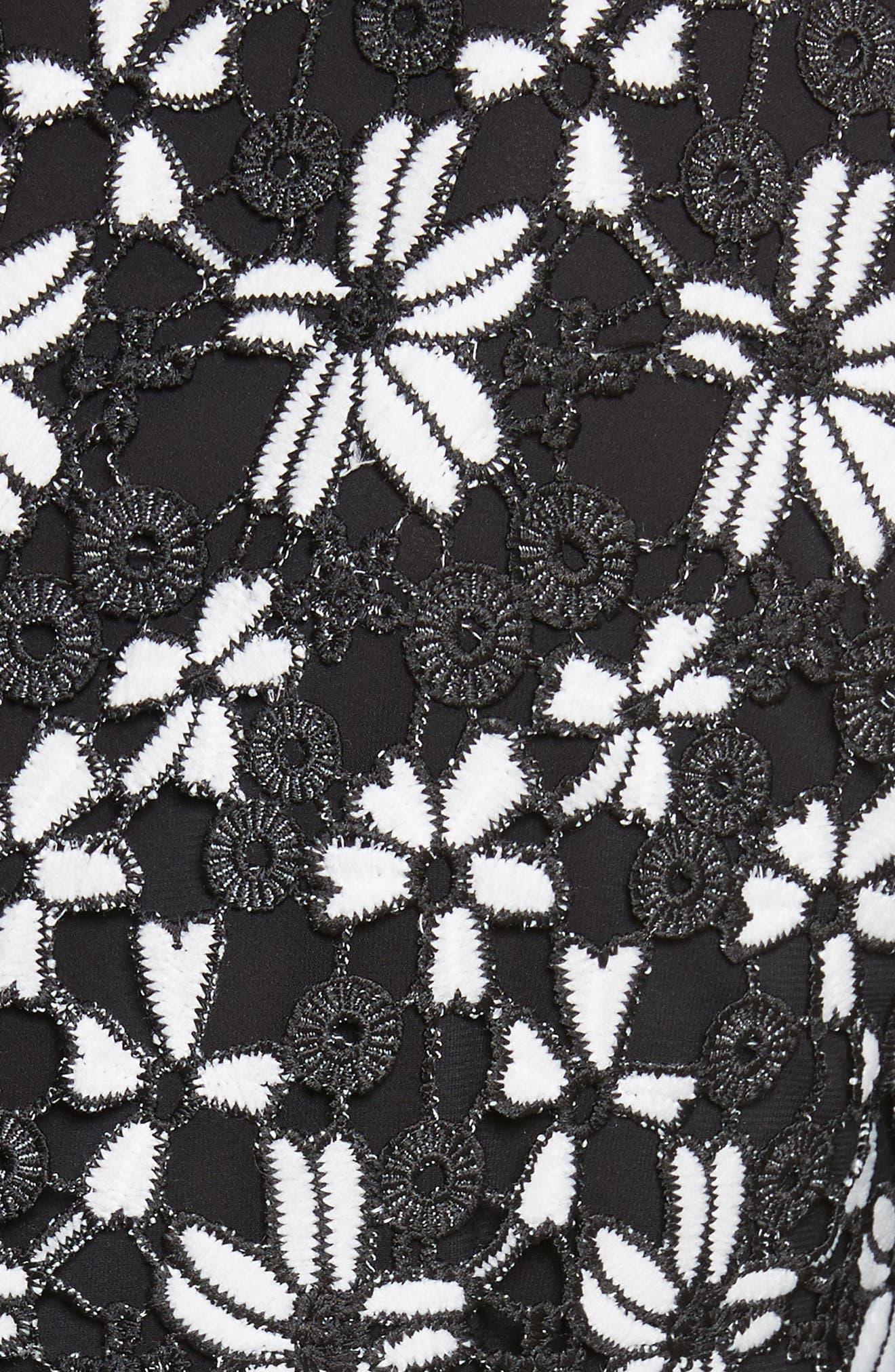 Debra Collared Lace Tunic Dress,                             Alternate thumbnail 5, color,                             009