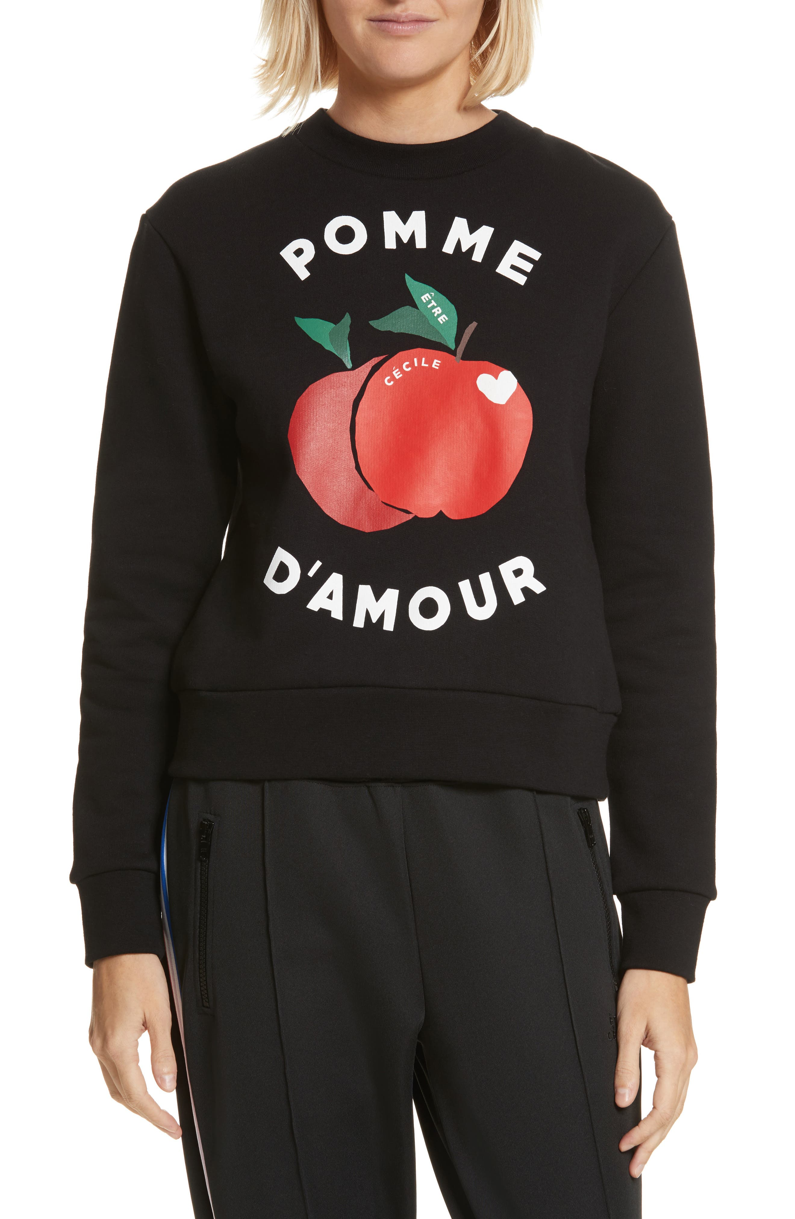 être cécile Pomme d'Amour Sweatshirt,                             Main thumbnail 1, color,