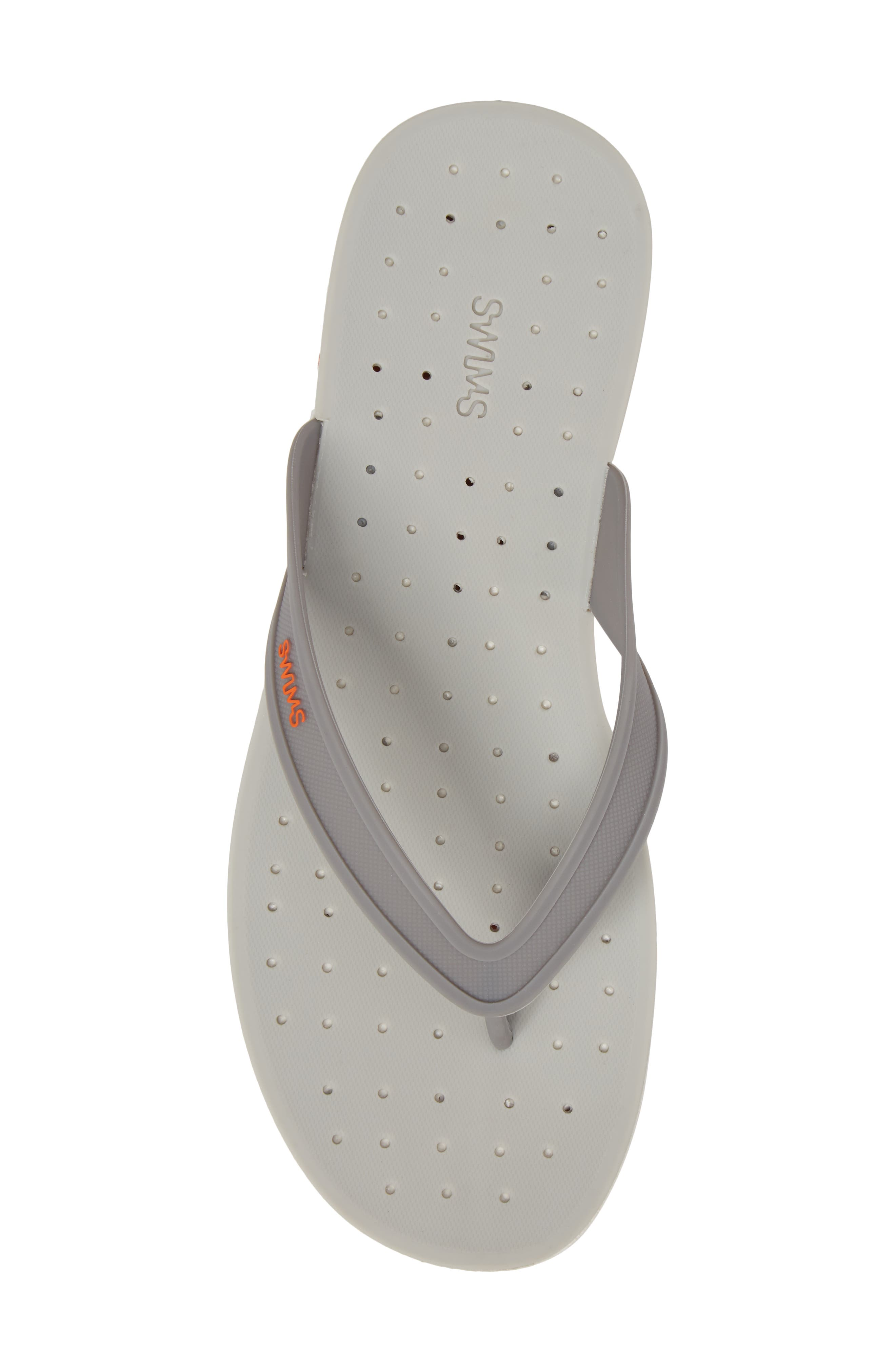 Breeze Flip Flop,                             Alternate thumbnail 5, color,                             GRAY / WHITE / ORANGE