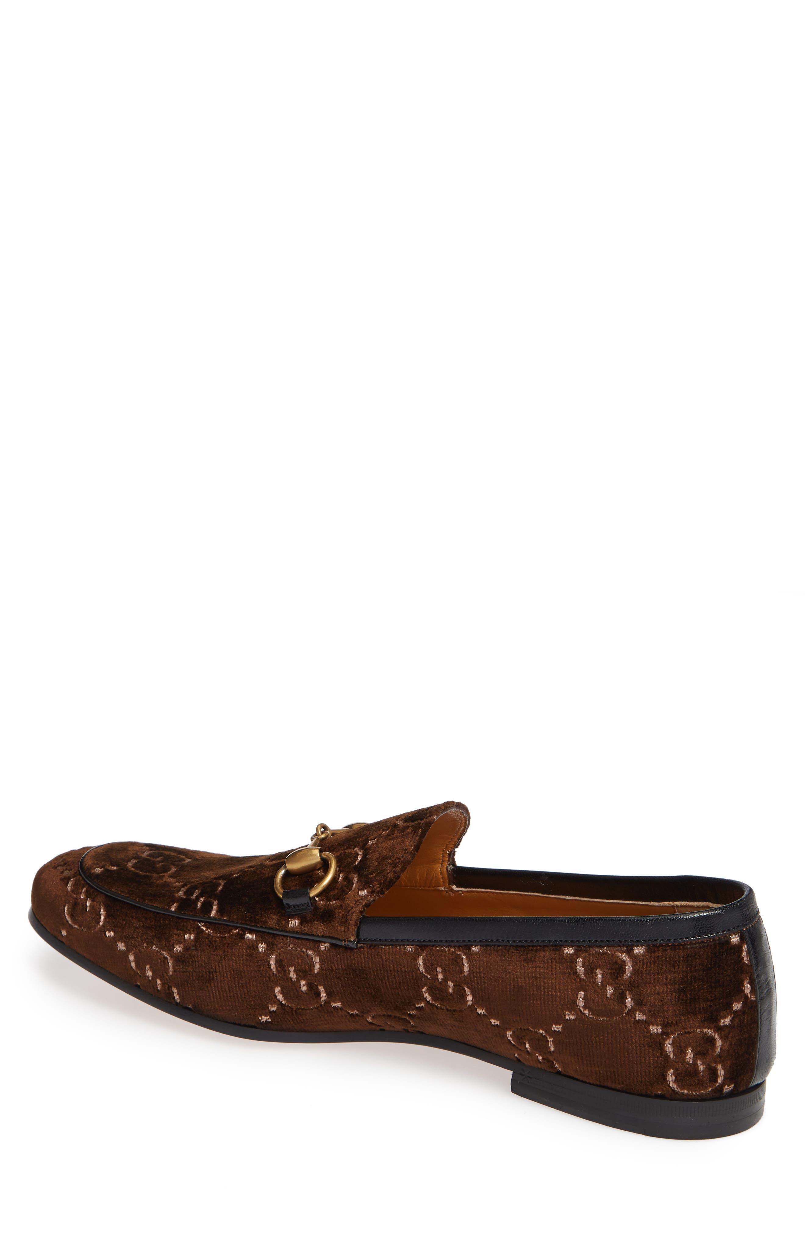 Jordaan GG Velvet Loafer,                             Alternate thumbnail 2, color,                             BROWN/ NERO