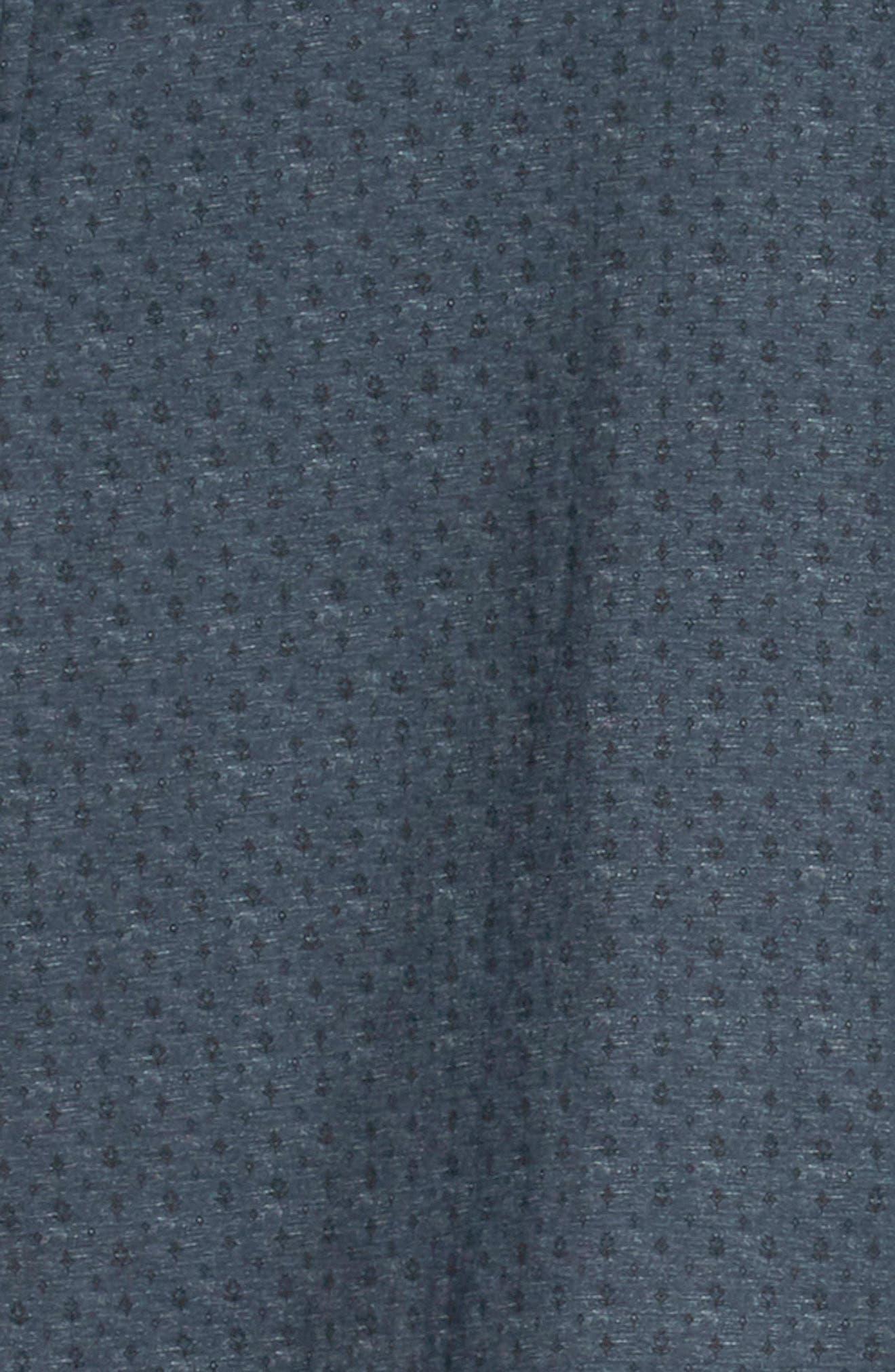 JOHN VARVATOS STAR USA,                             Regular Fit Foulard Print Sport Shirt,                             Alternate thumbnail 6, color,                             TITANIUM BLUE