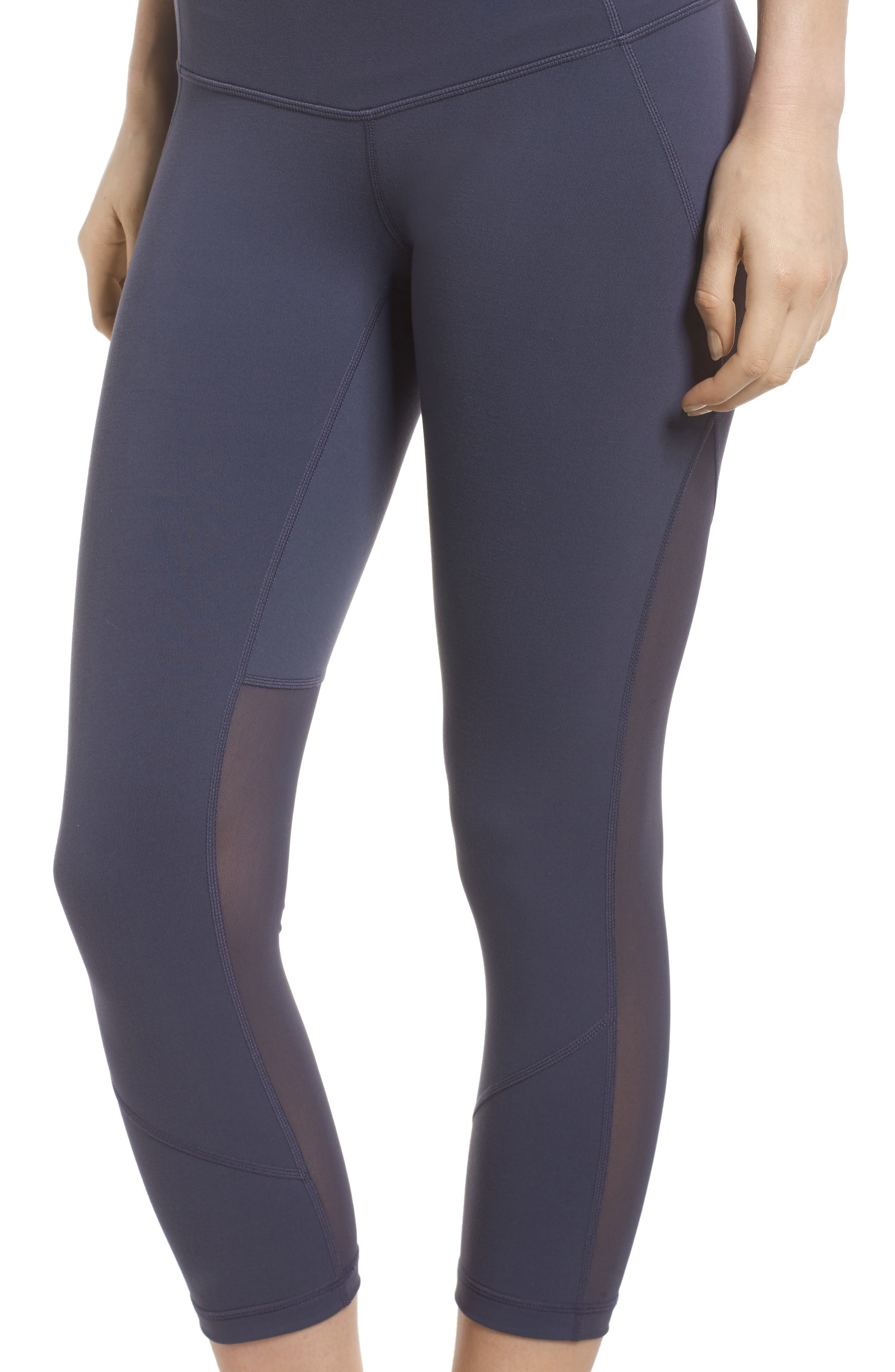'Live In - Sultry' High Waist Mesh Crop Leggings,                             Alternate thumbnail 35, color,