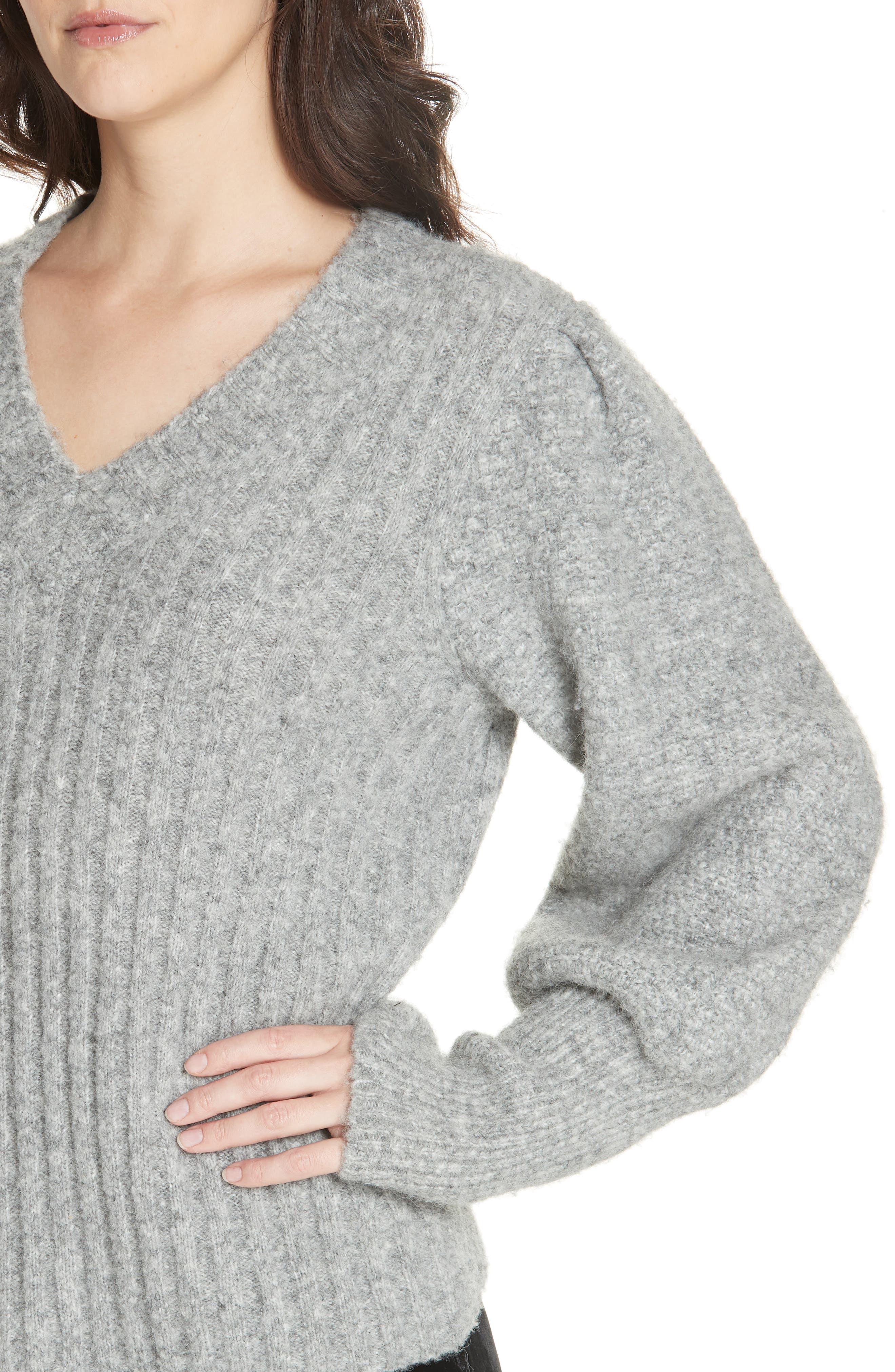 REBECCA TAYLOR,                             Lofty Alpaca Wool Blend Sweater,                             Alternate thumbnail 4, color,                             052
