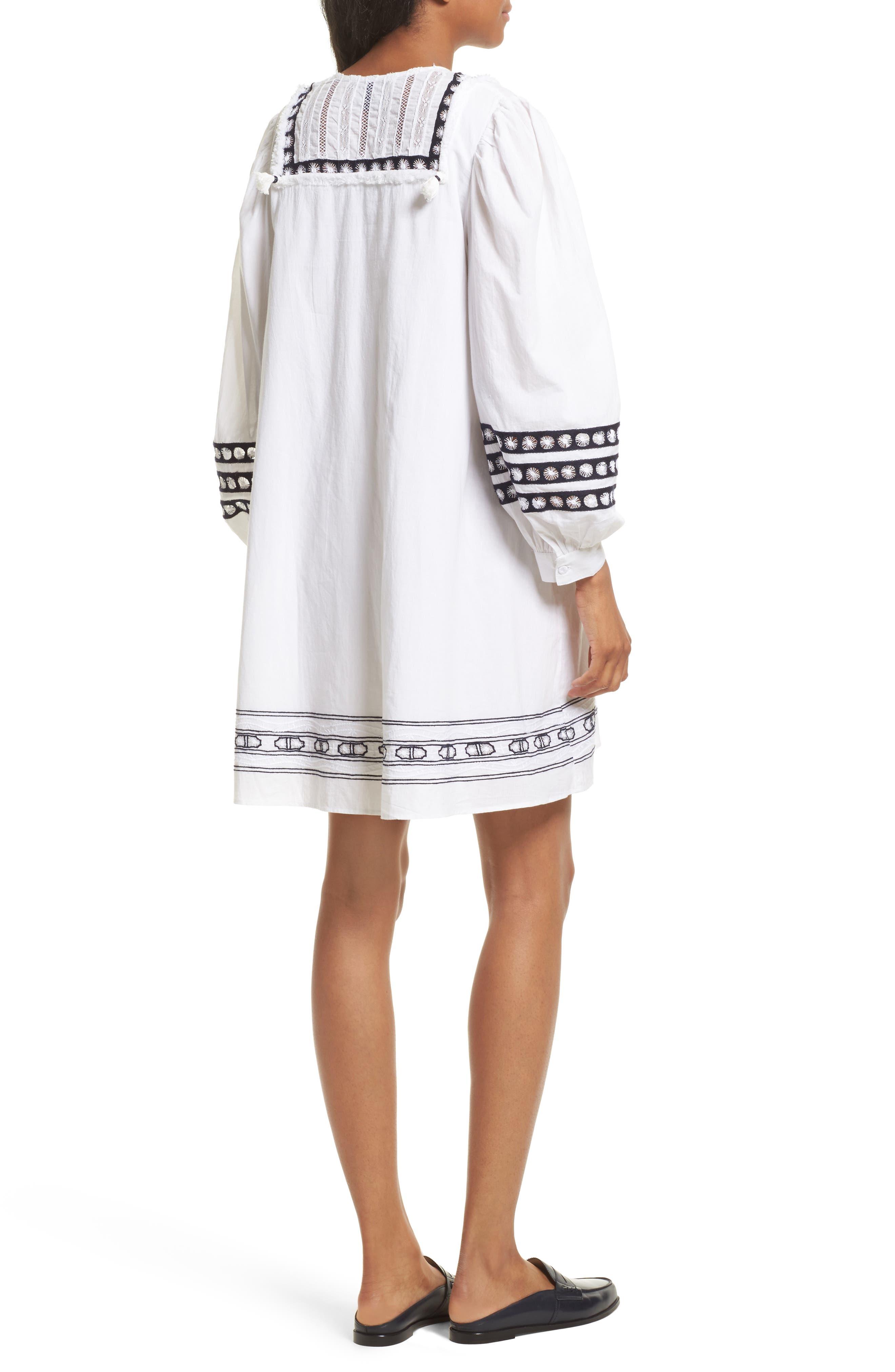 Lace Bib Dress,                             Alternate thumbnail 2, color,                             100