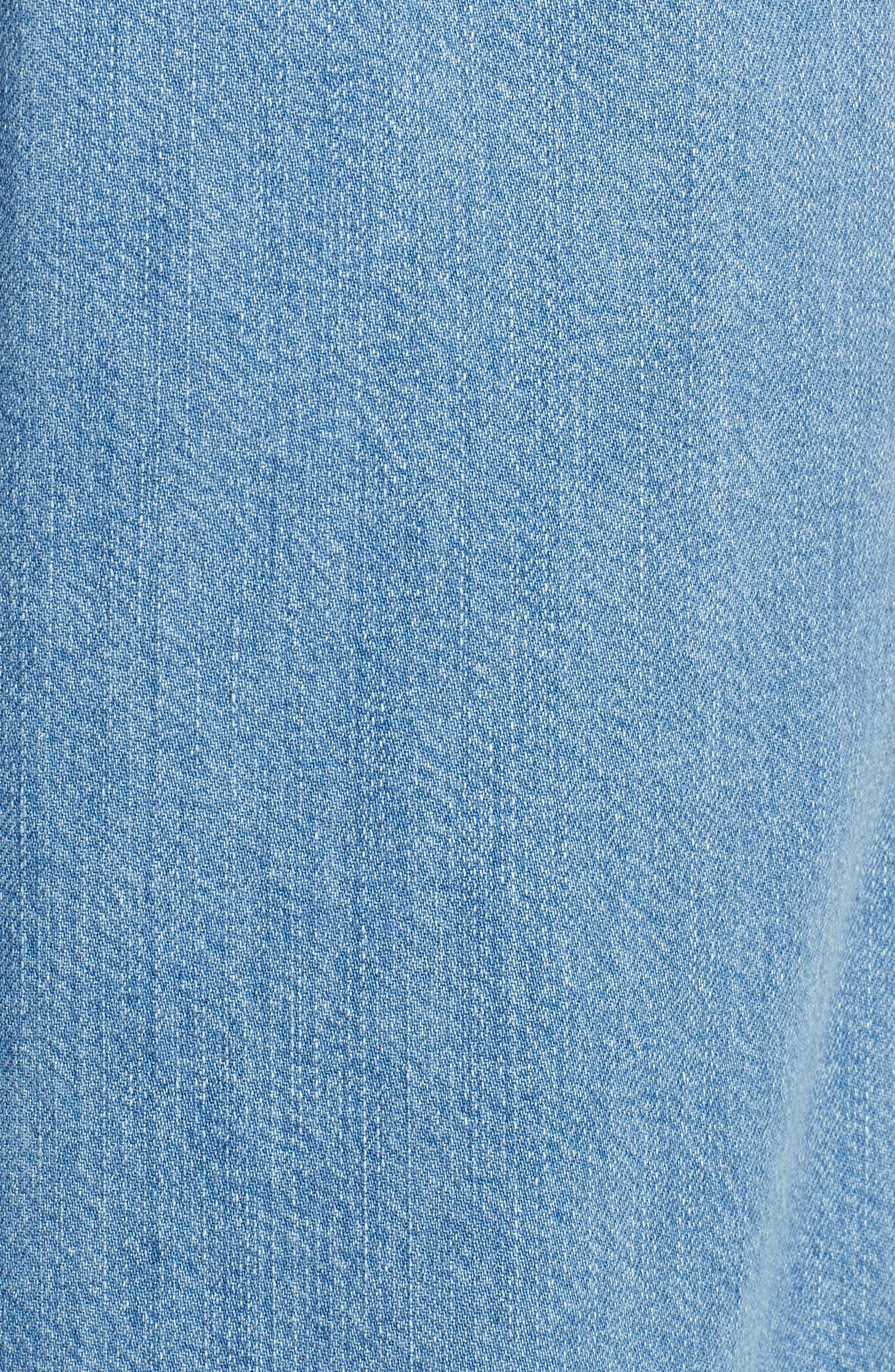 Wide Leg Crop Jeans,                             Alternate thumbnail 6, color,                             LIGHT DENIM