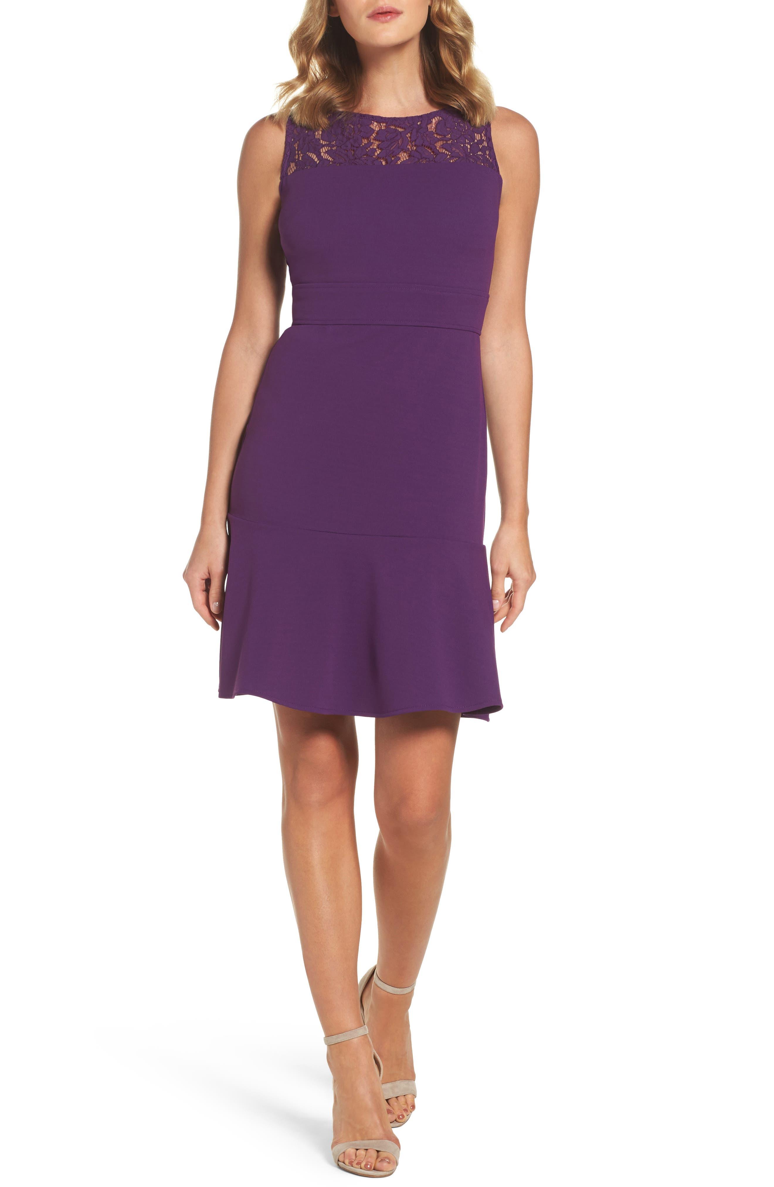 Lace Flounce Dress,                             Main thumbnail 2, color,
