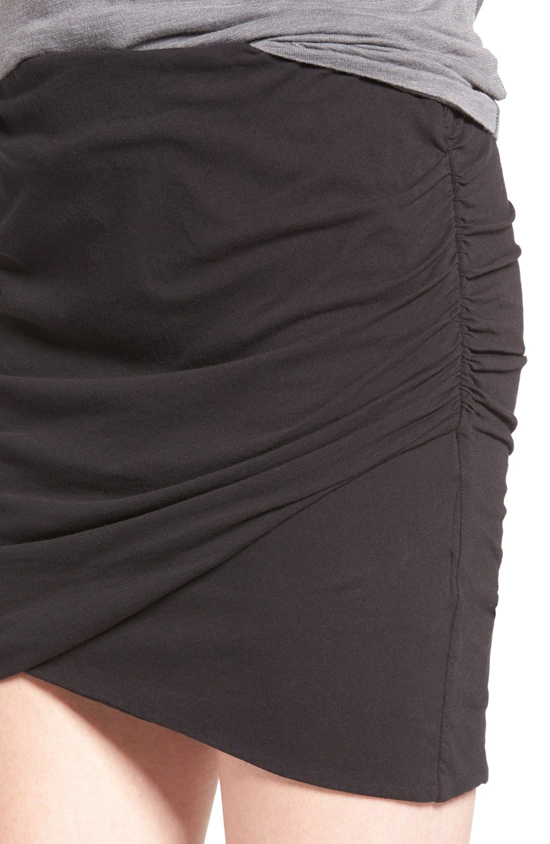 Ruched Surplice Skirt,                             Alternate thumbnail 10, color,