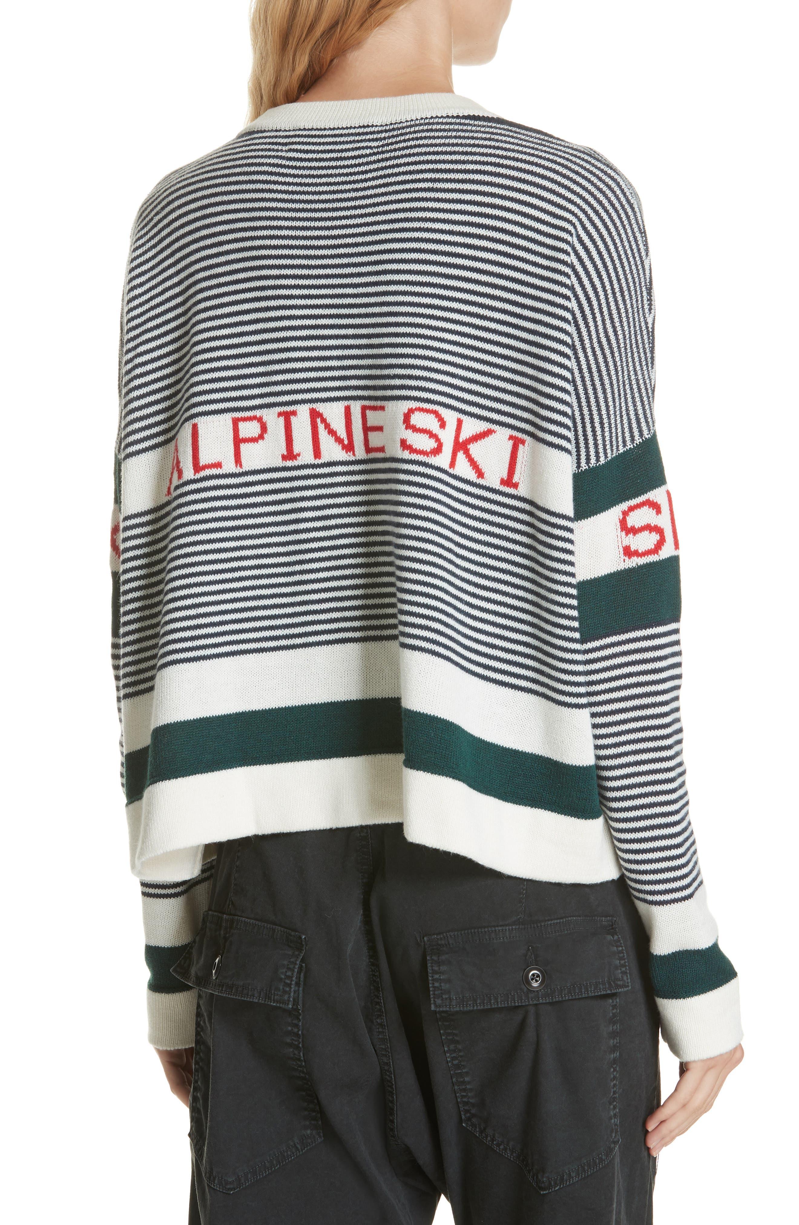 Alpine Ski Sweater,                             Alternate thumbnail 2, color,                             MULTI STRIPE