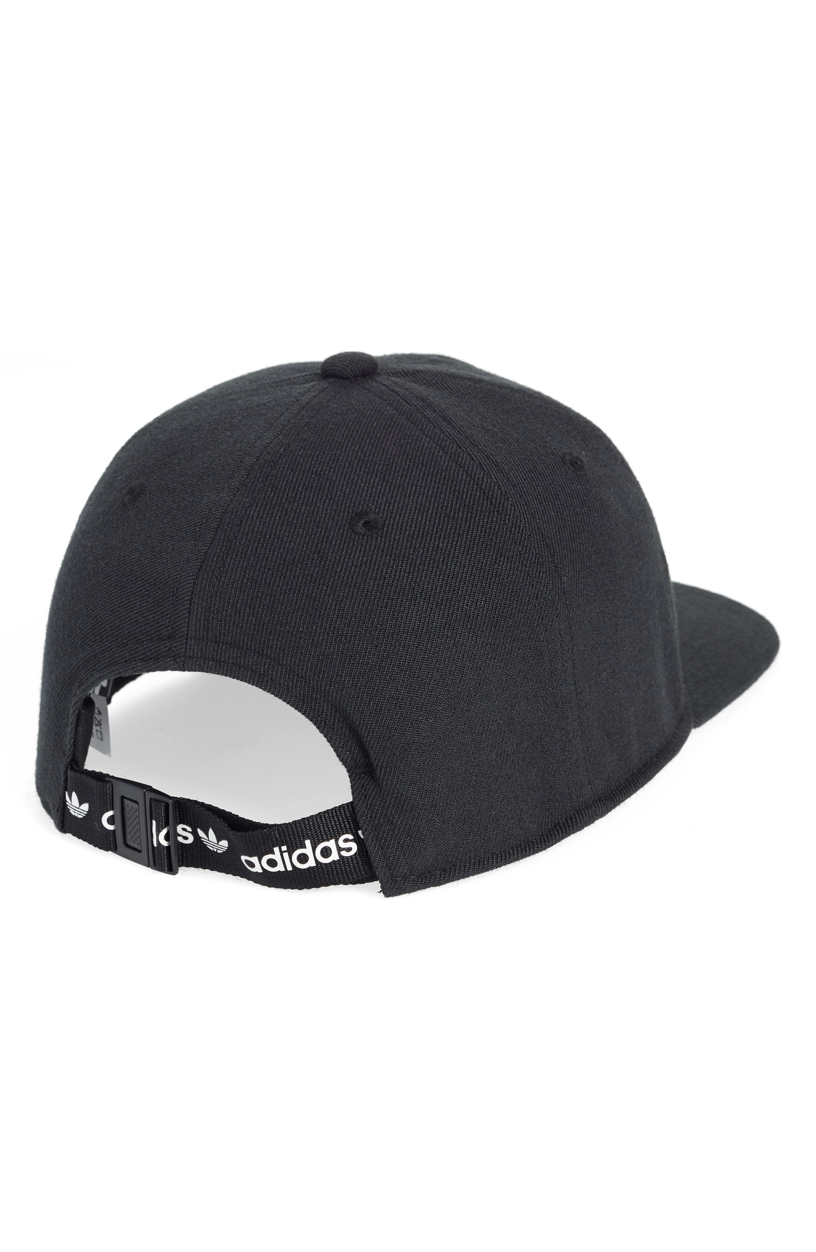 Relaxed Banner Embroidered Cap,                             Alternate thumbnail 2, color,                             BLACK/ WHITE