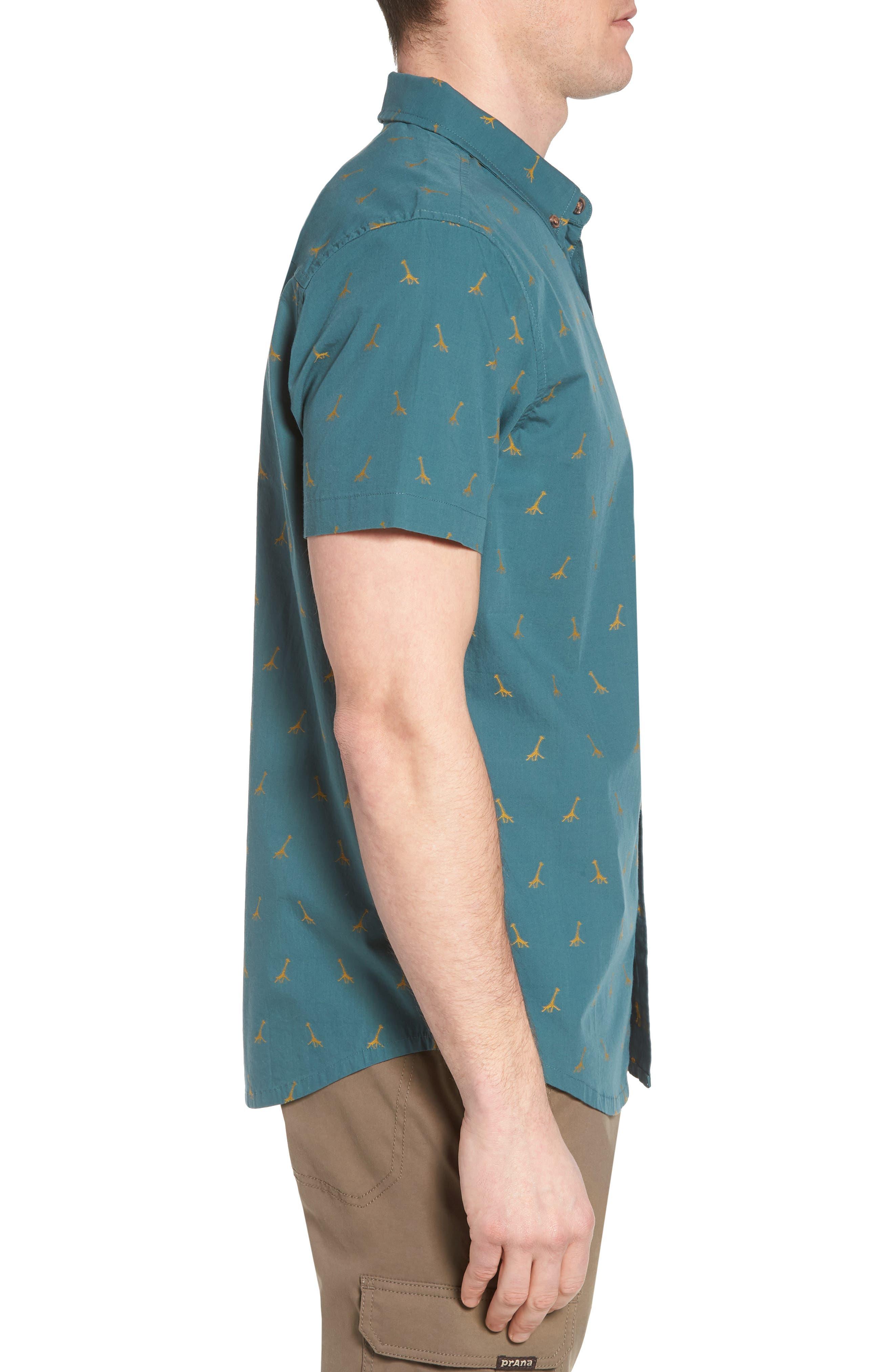 Broderick Slim Fit Short Sleeve Sport Shirt,                             Alternate thumbnail 3, color,                             300