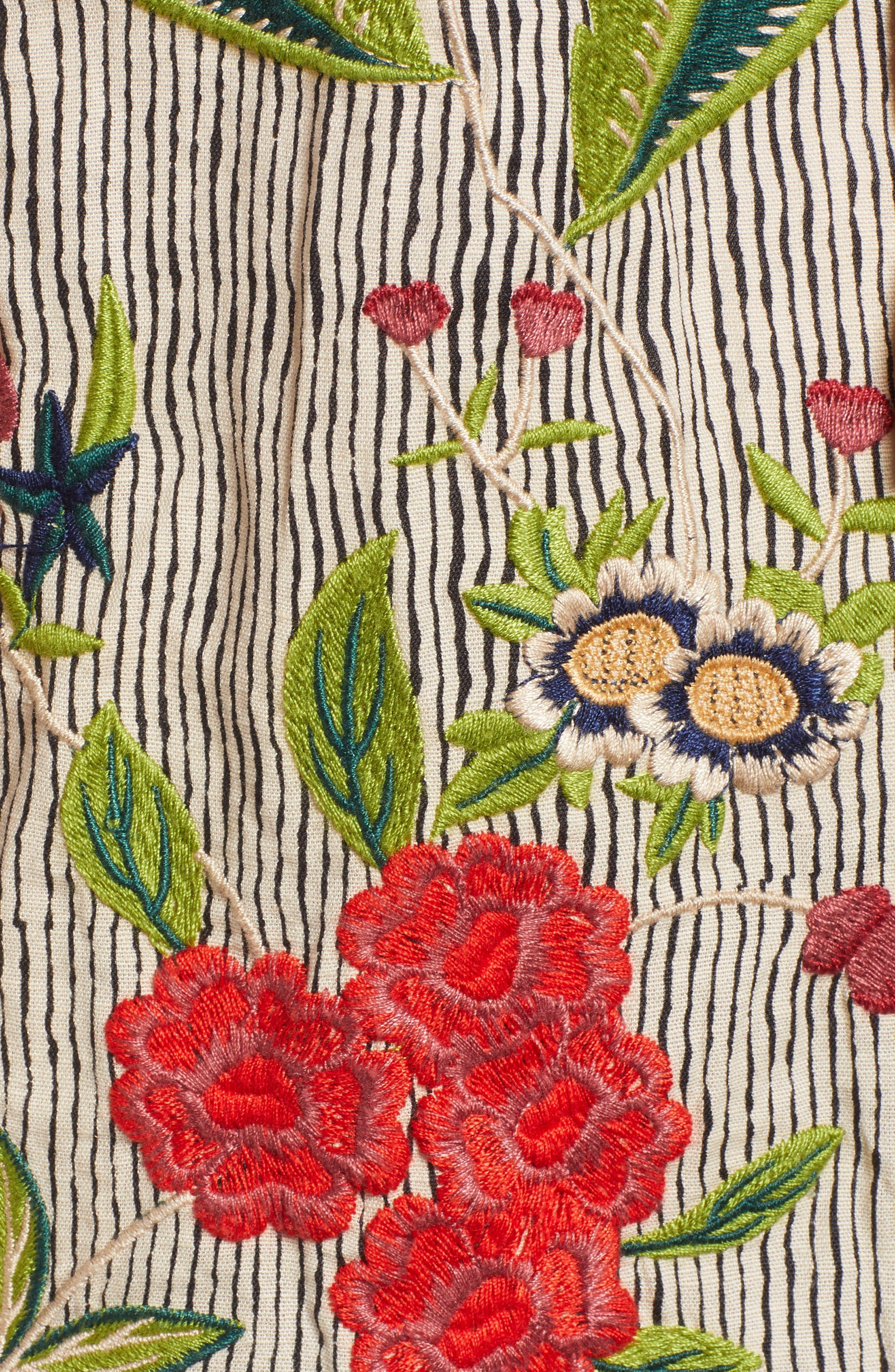 Embroidered Stripe Jacket,                             Alternate thumbnail 7, color,                             296