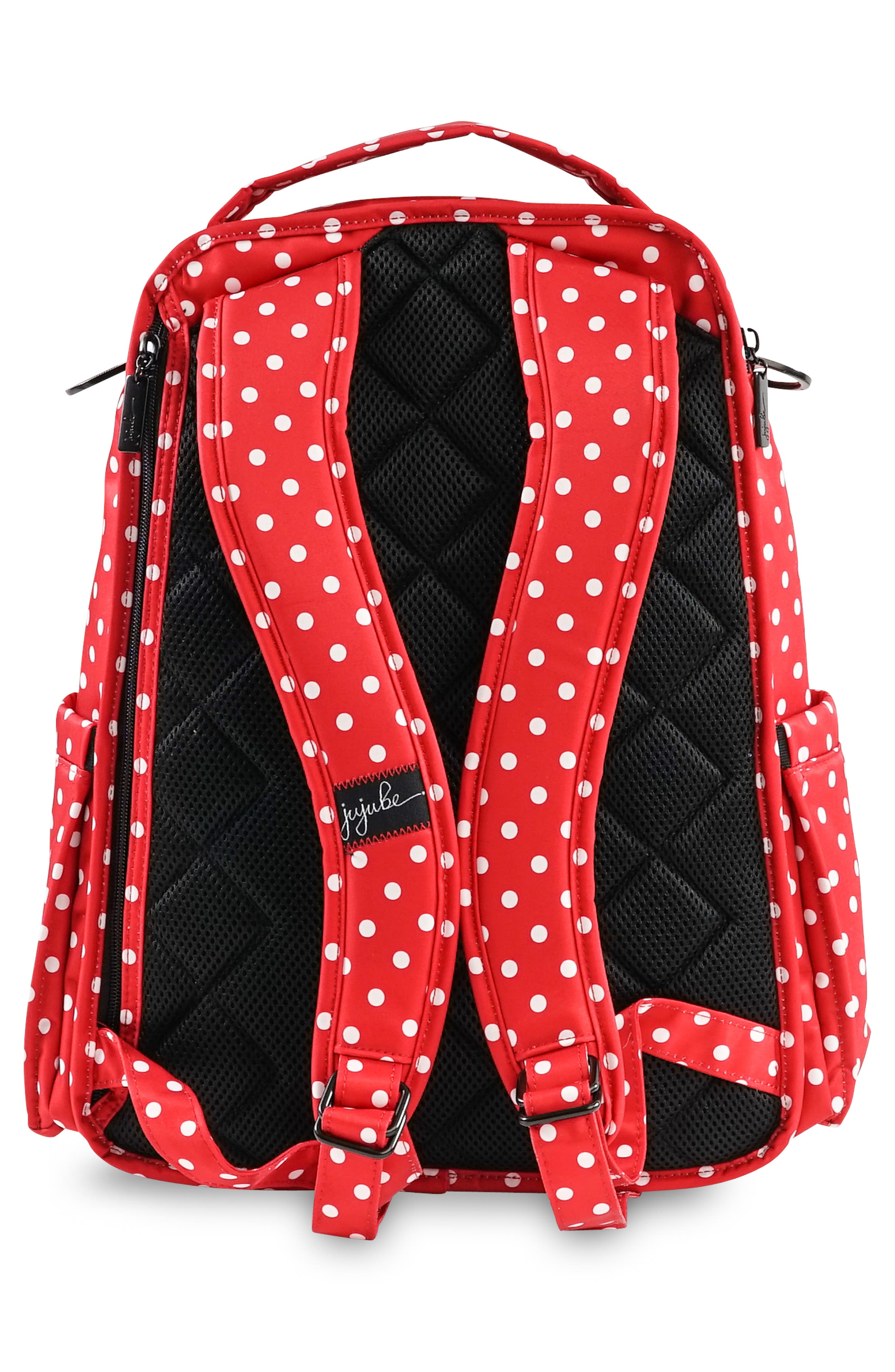 'Be Right Back - Onyx Collection' Diaper Backpack,                             Alternate thumbnail 6, color,                             BLACK RUBY