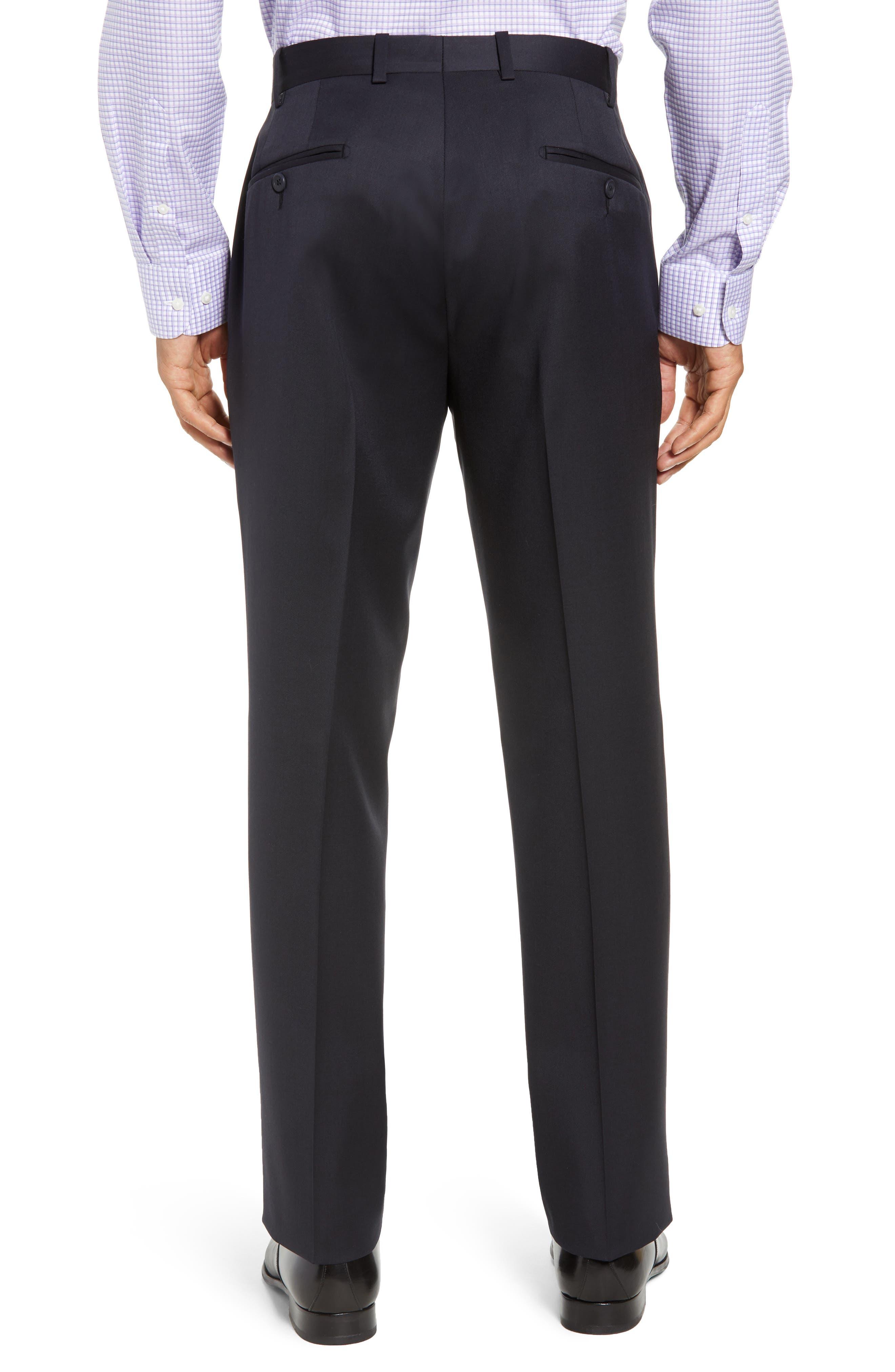 Torino Flat Front Wool Gabardine Trousers,                             Alternate thumbnail 11, color,