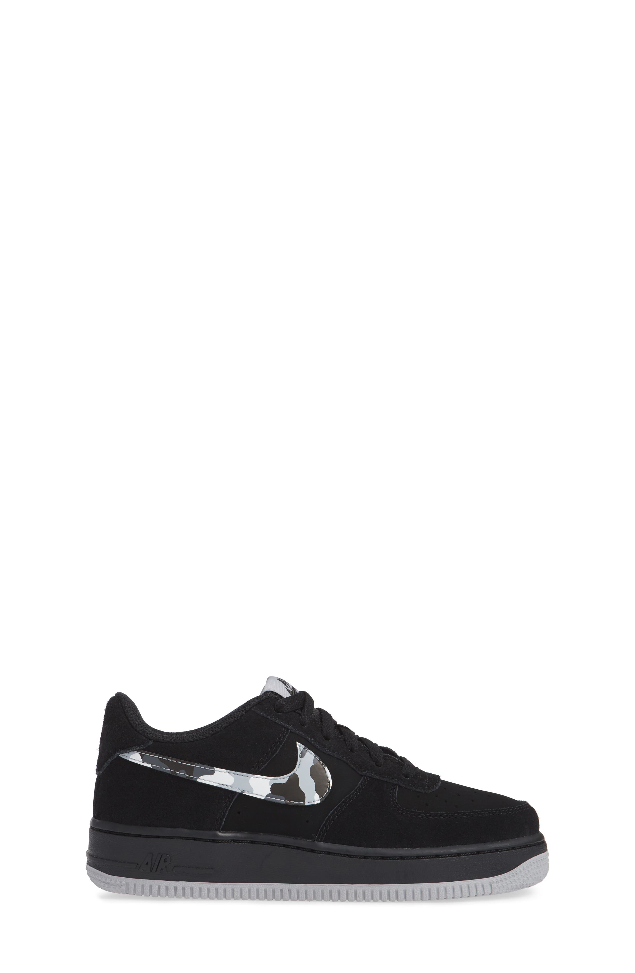 Air Force 1 Sneaker,                             Alternate thumbnail 3, color,                             BLACK/ GREY/ WHITE