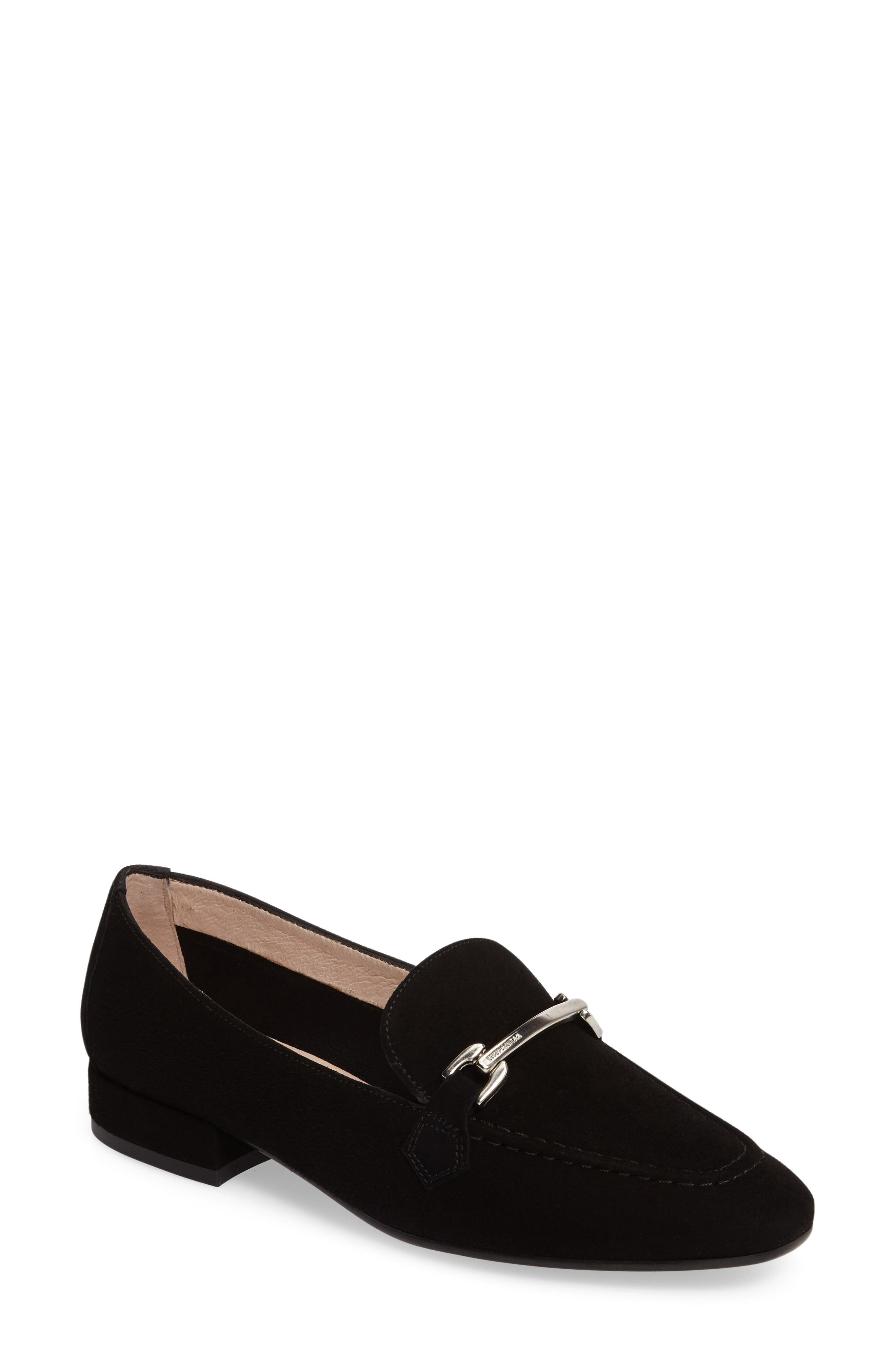 Evelyn Loafer,                             Main thumbnail 1, color,                             BLACK FABRIC